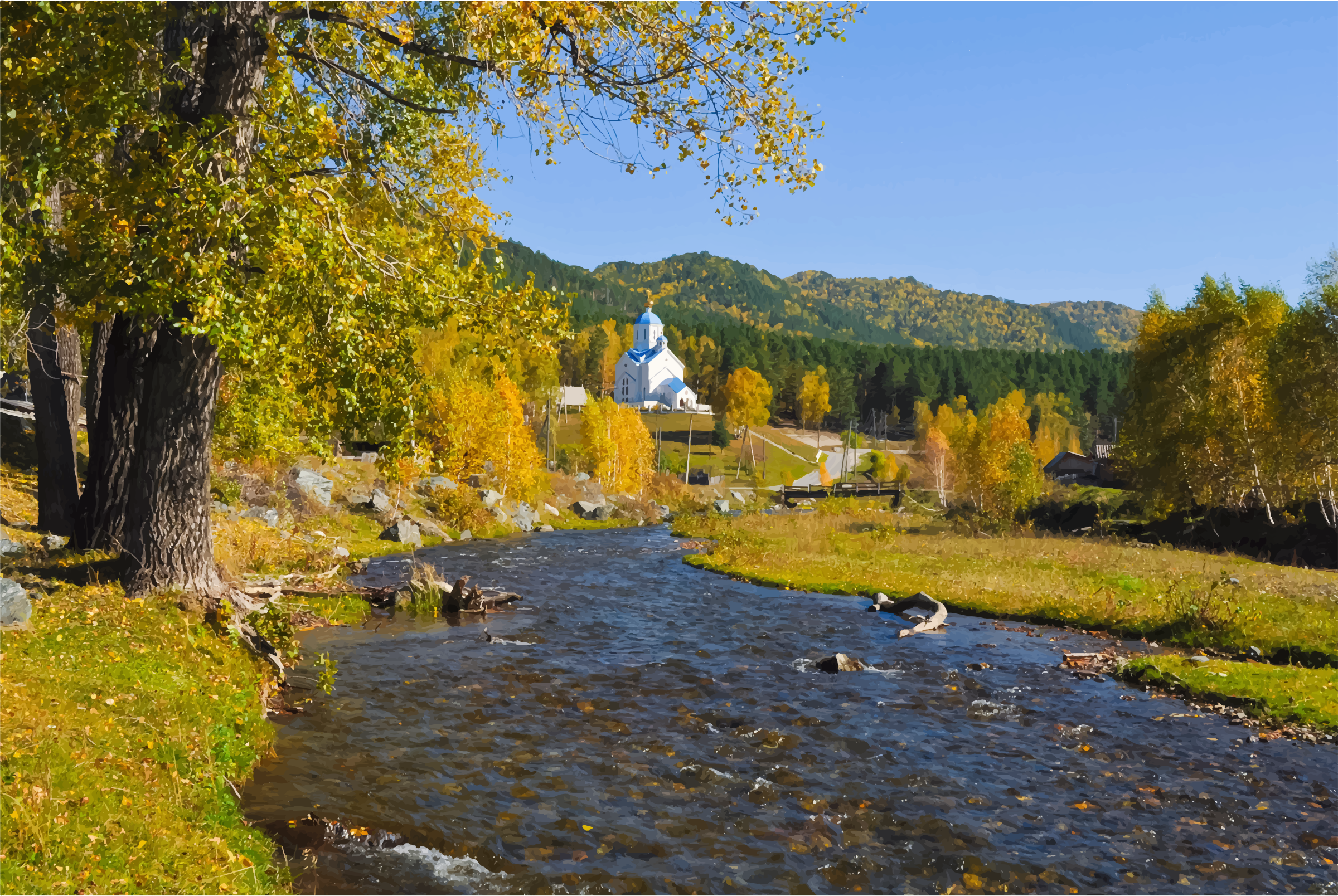 Orthodox Church In A Picturesque Landscape by GDJ