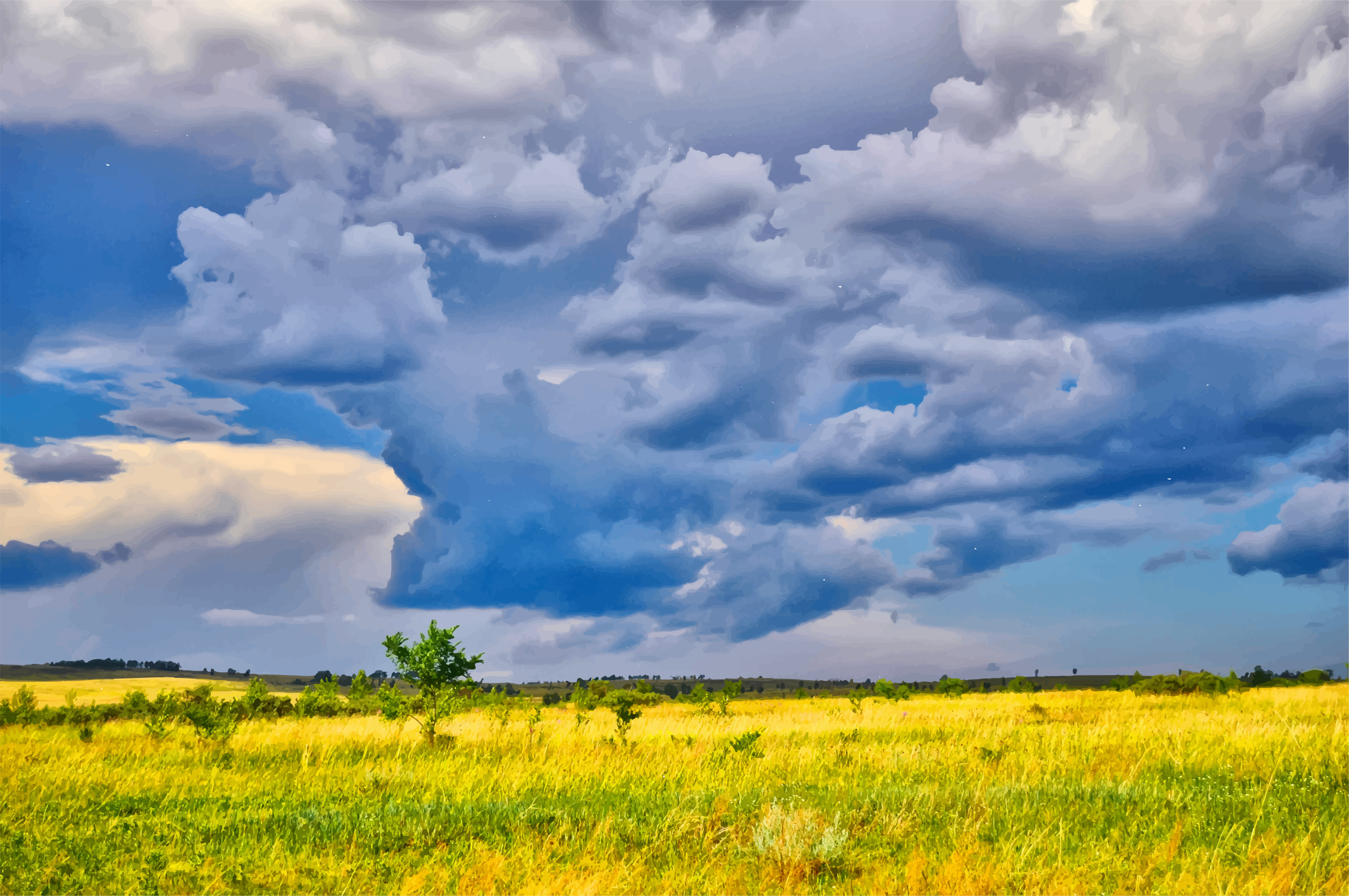 Dark Storm Clouds Over The Savannah by GDJ