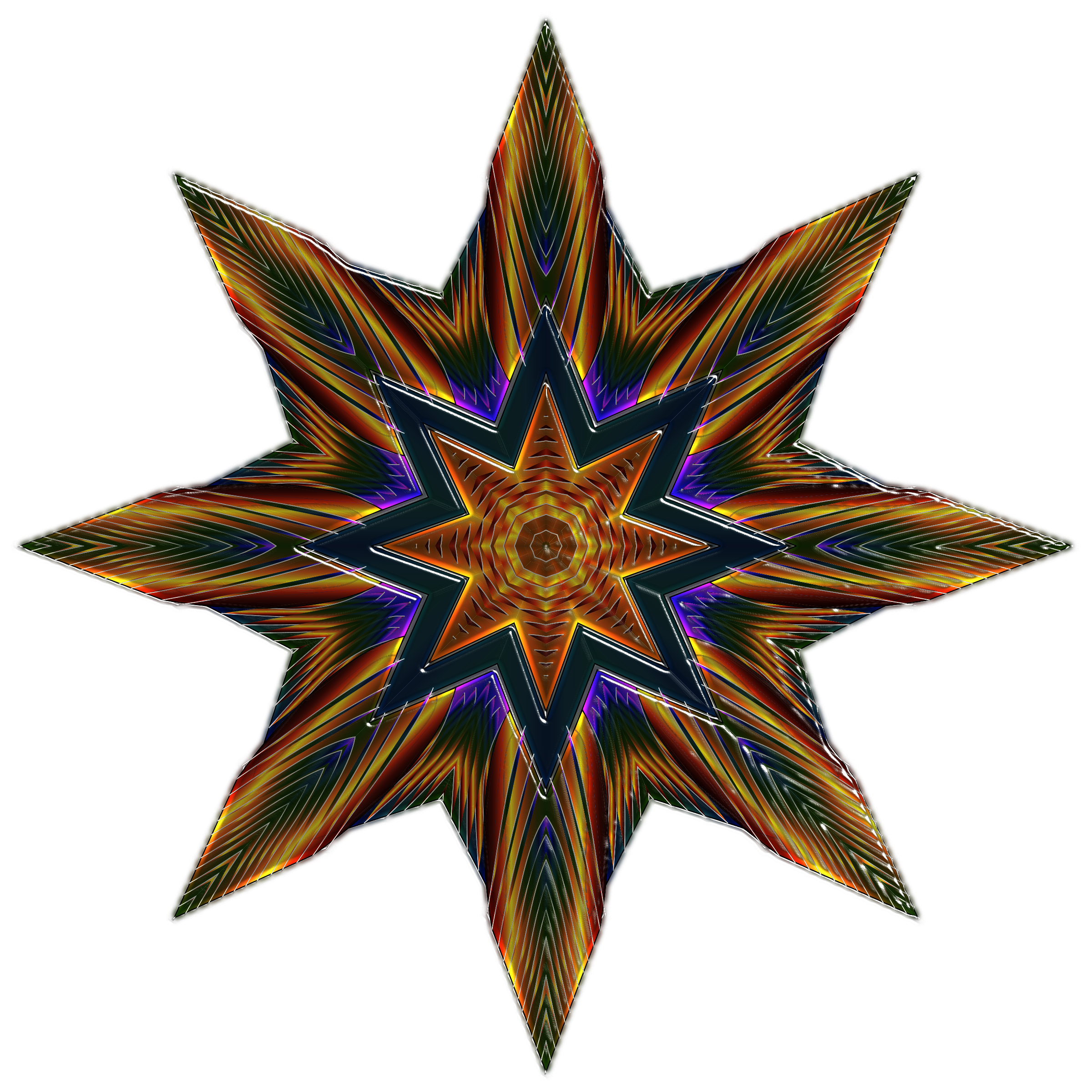 Ornate Star Variation 1 by GDJ