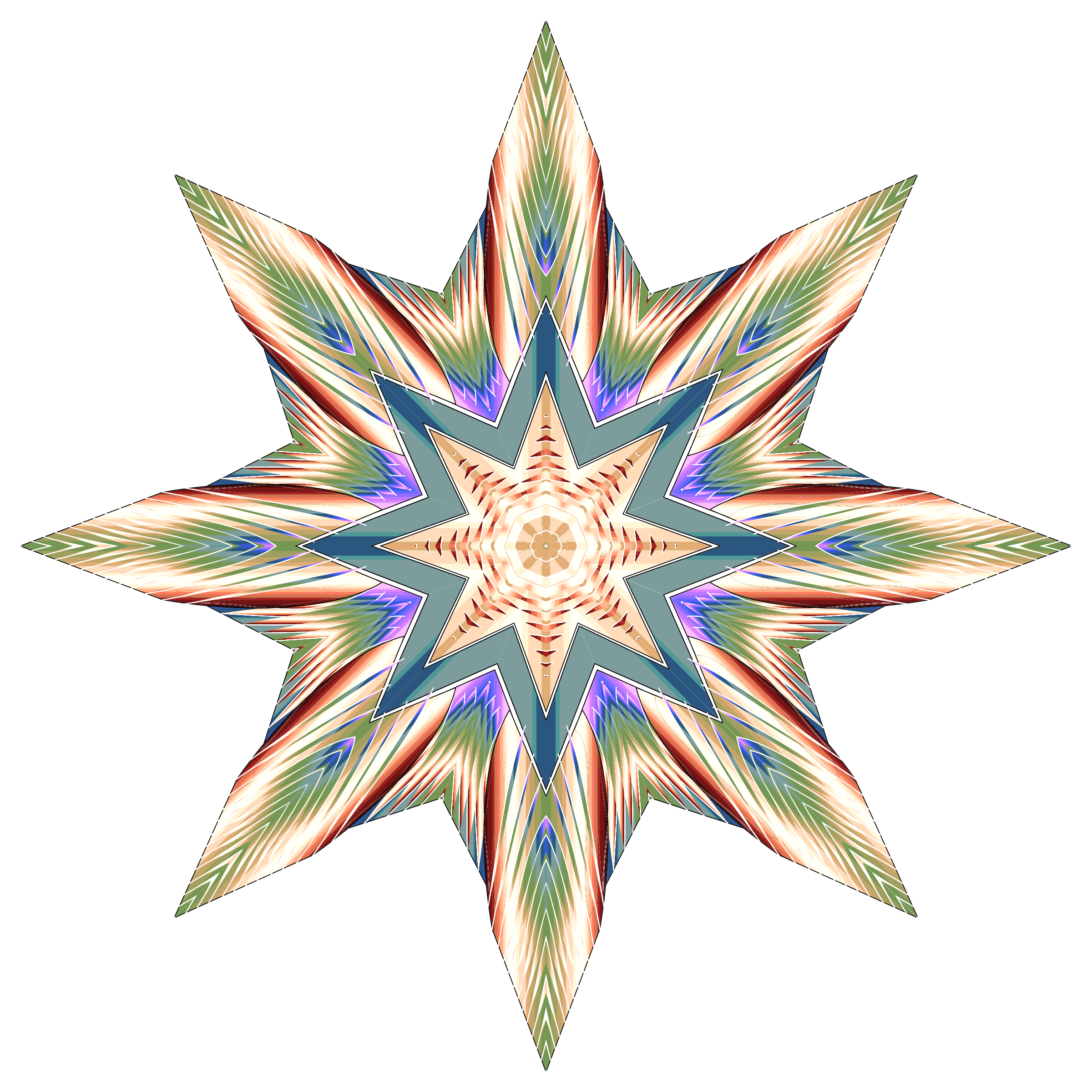 Ornate Star Variation 2 by GDJ