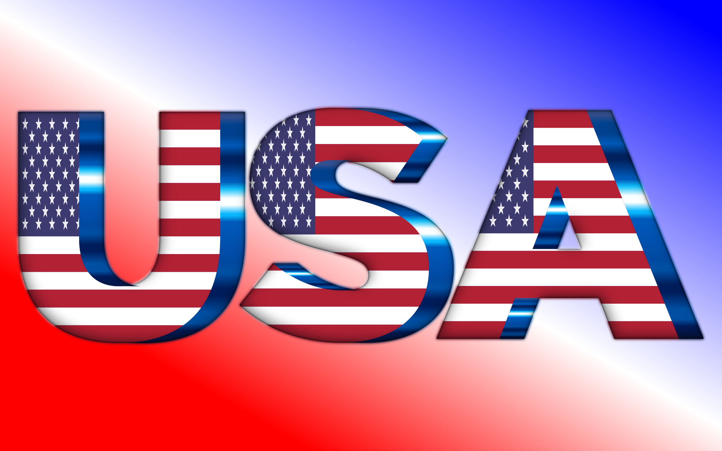 USA Flag Typography by GDJ
