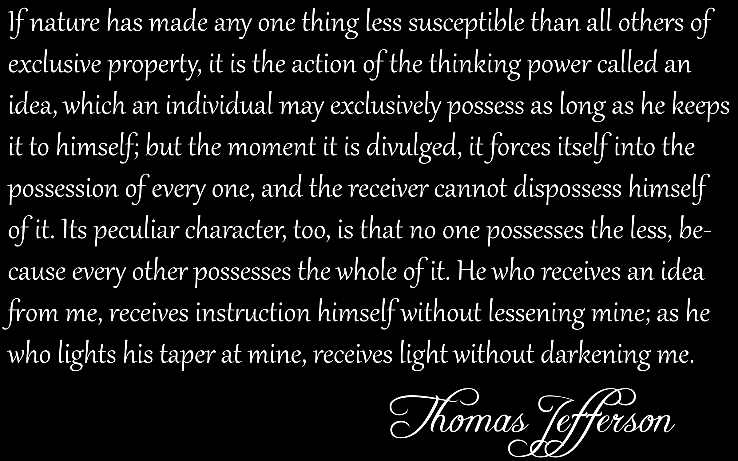 Thomas Jefferson Copywrong Quote by GDJ