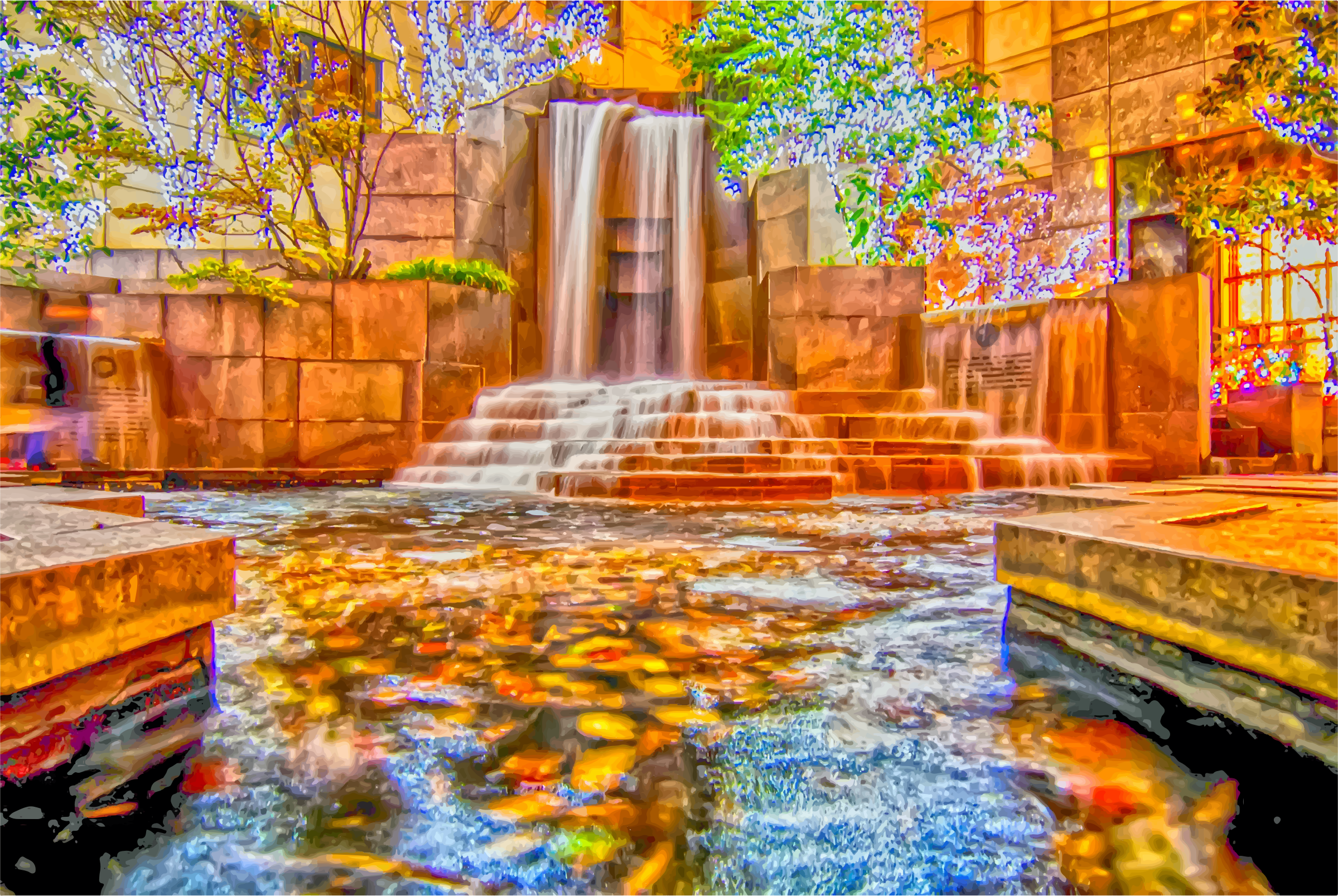 Clipart - Waterfall Fountain In Charlotte