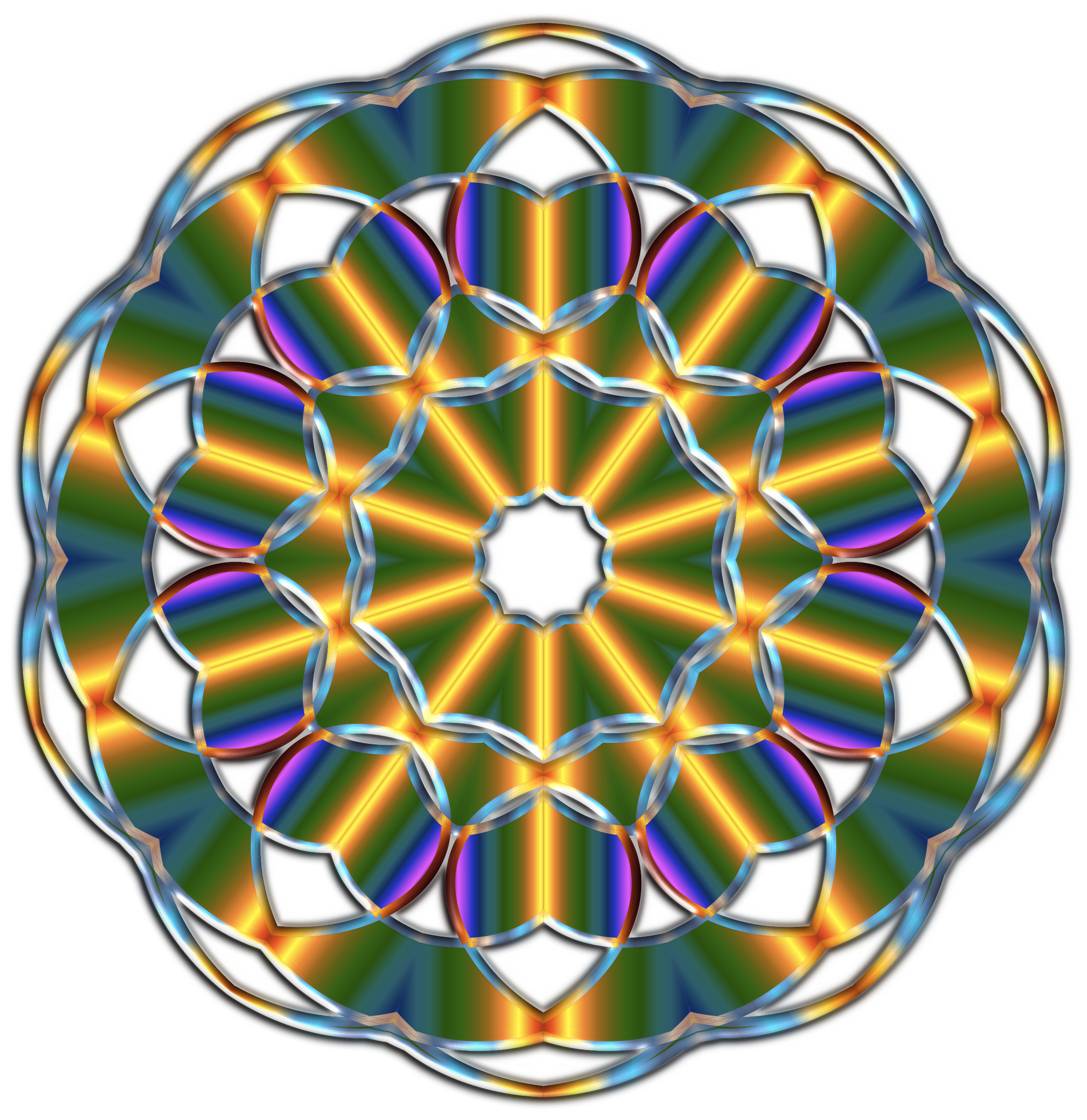 Iridescent Mandala by GDJ
