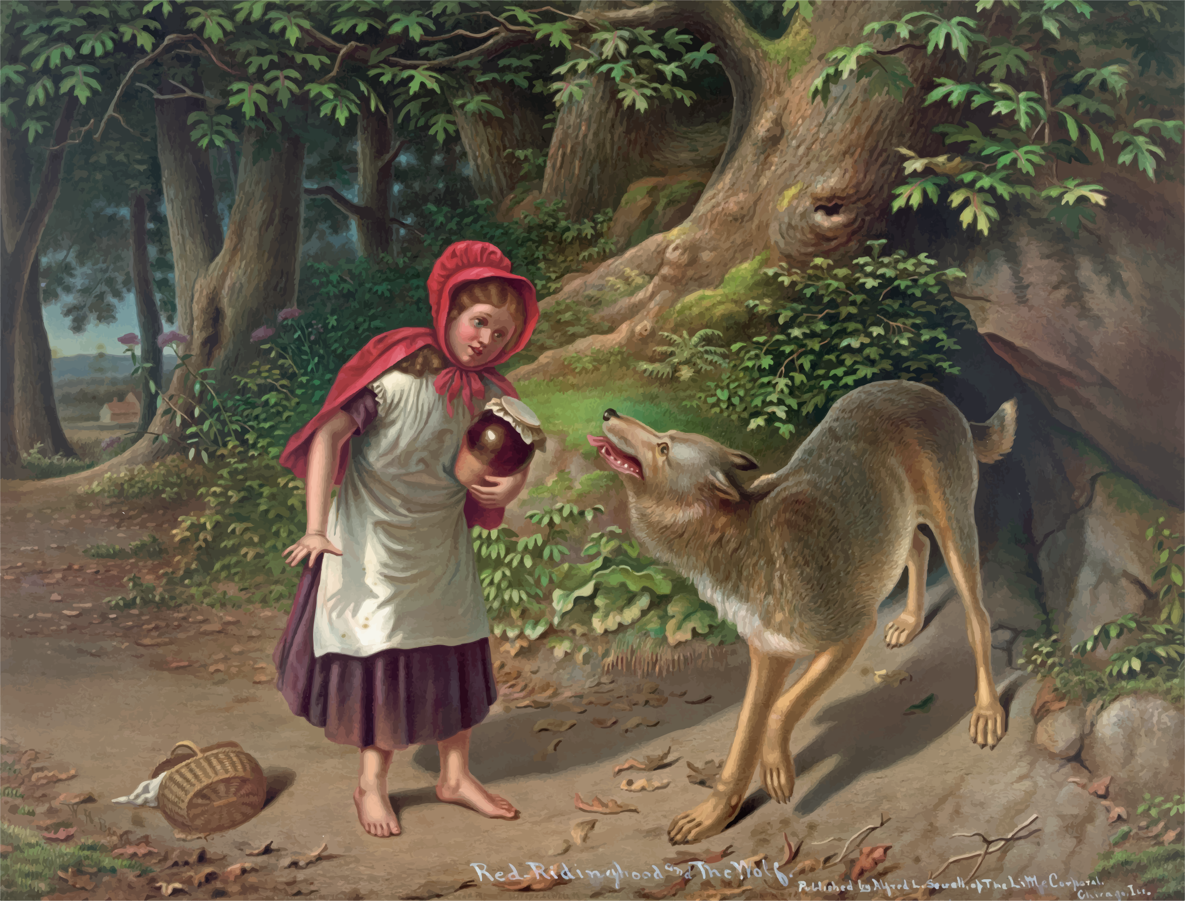 Little Red Riding Hood Painting by GDJ
