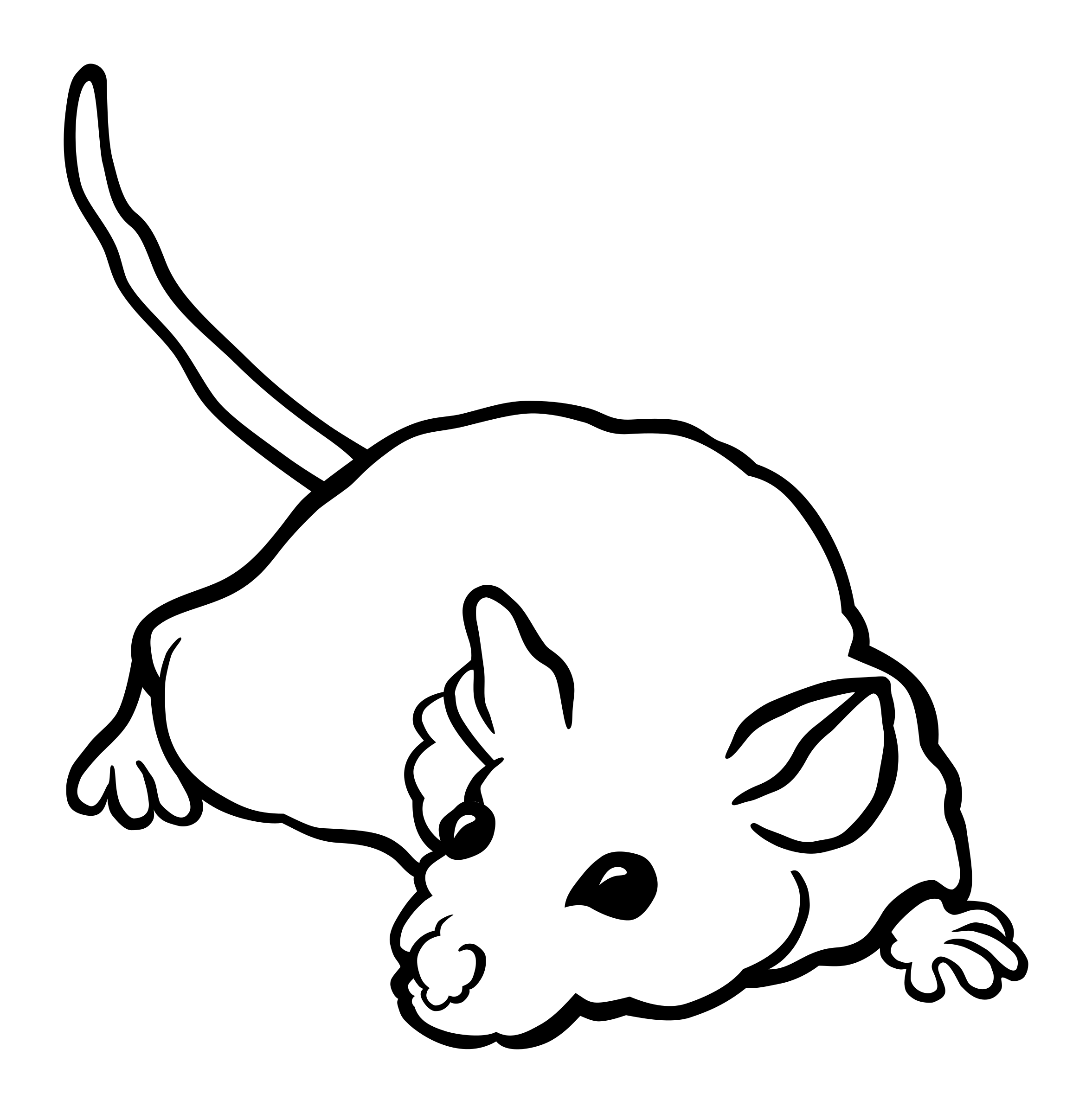 mouse - lineart by frankes