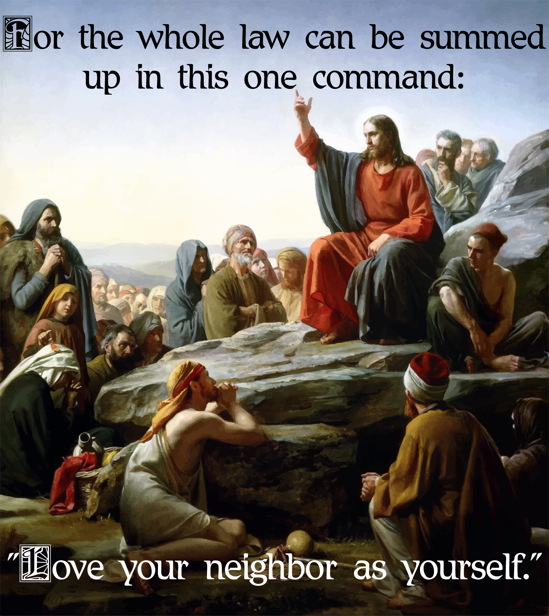 Jesus Sermon On The Mount Command by GDJ