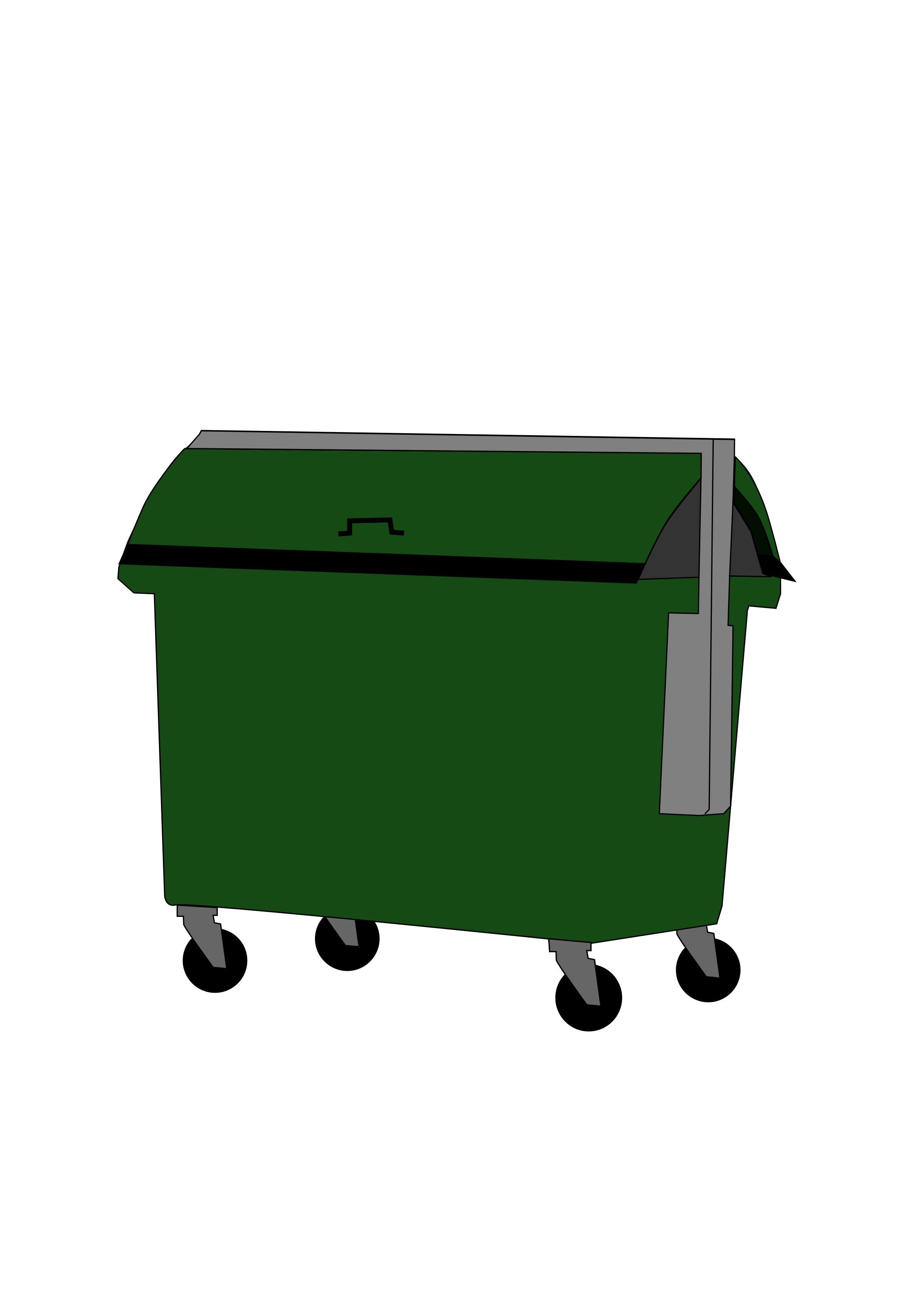 Trash container by skurian25