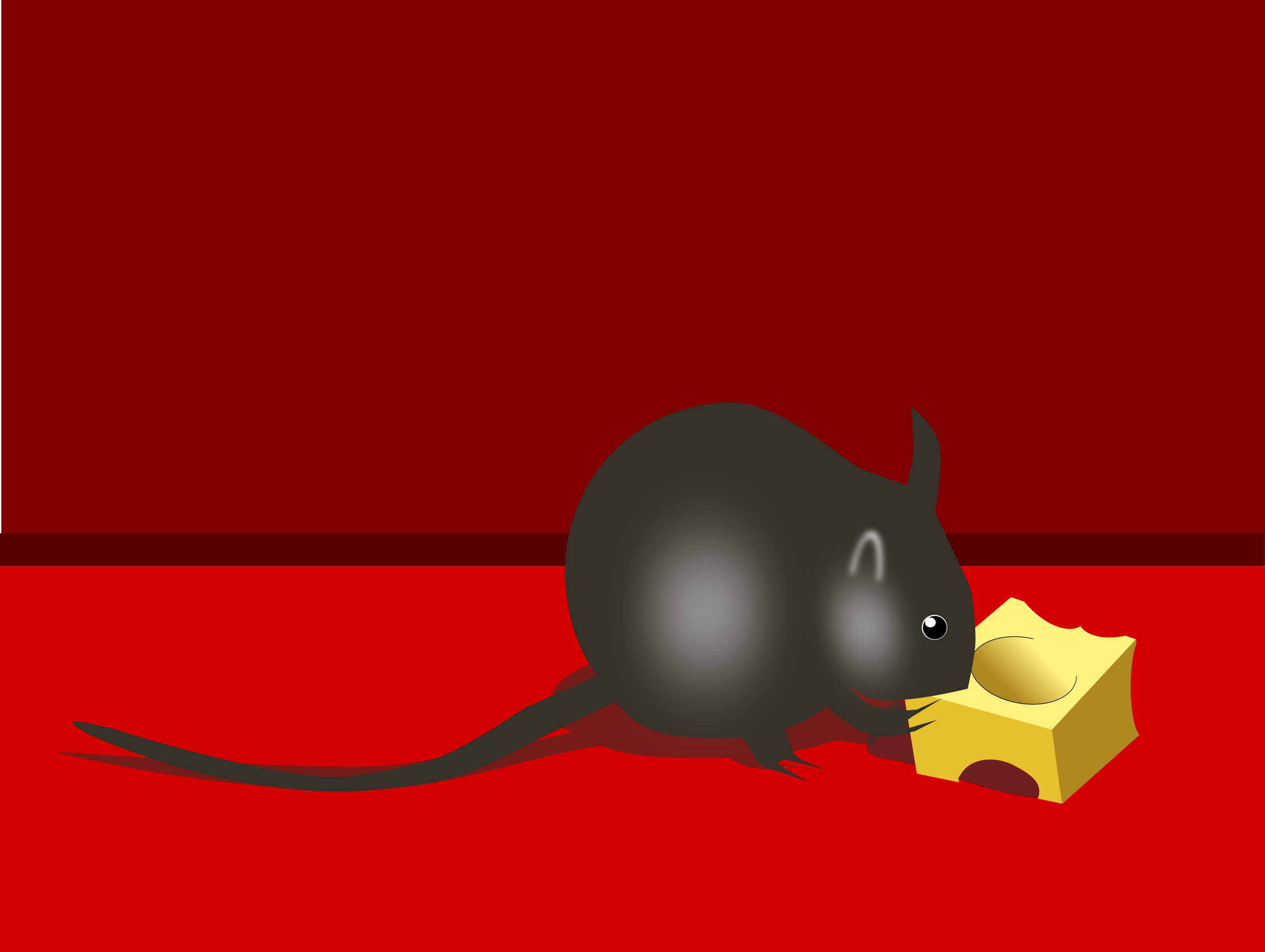 Mouse with cheese by user unknown