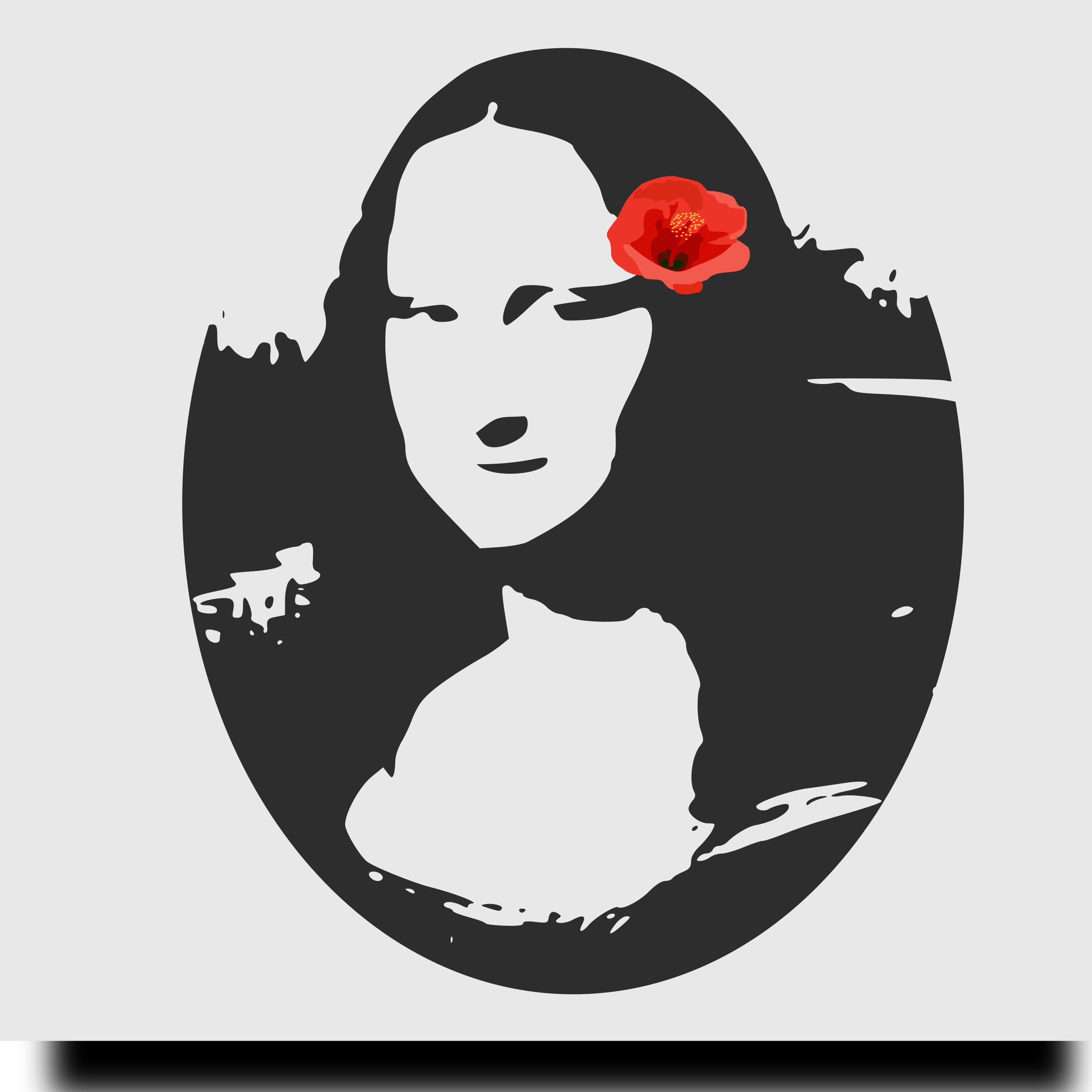Mona Lisa with Hibiscus by yamachem
