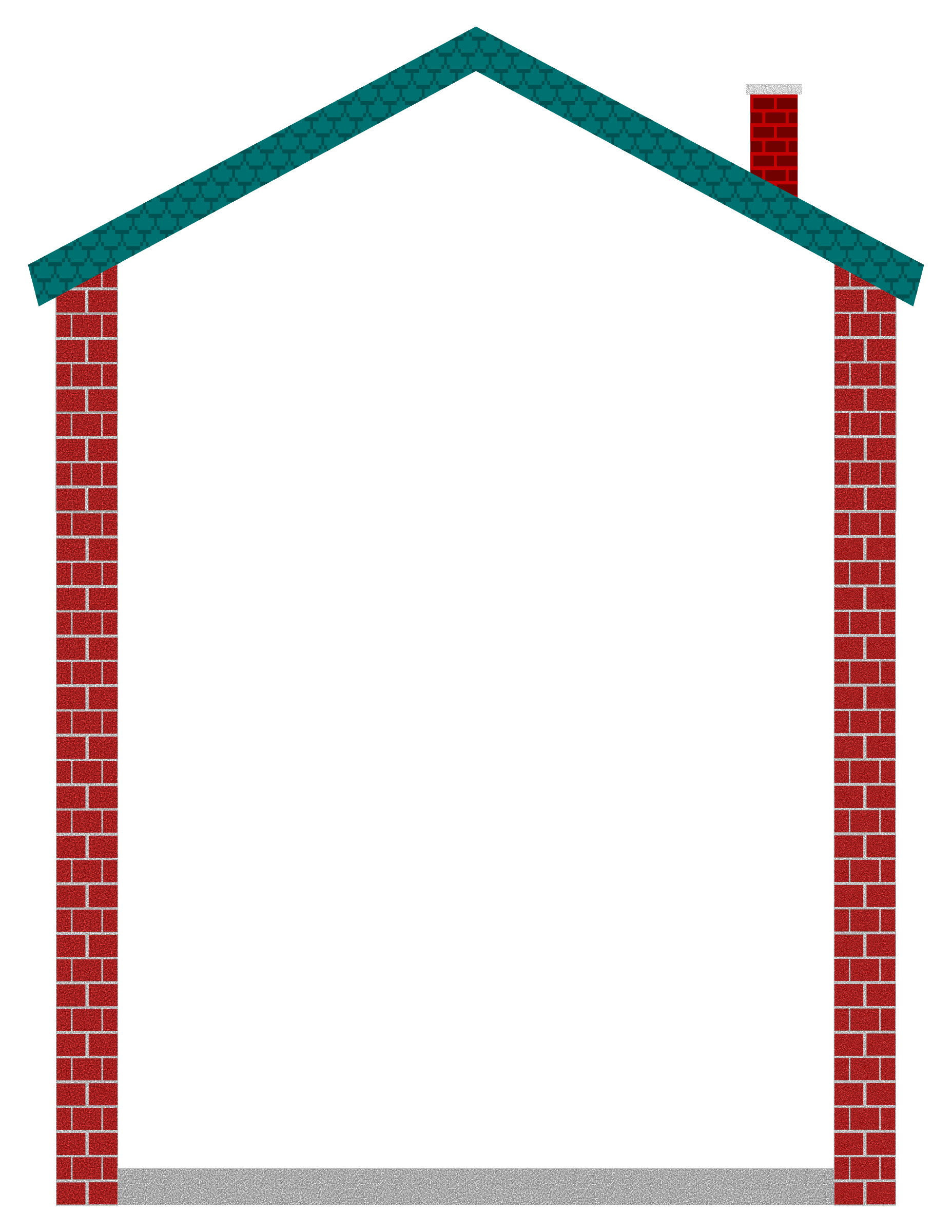 Clipart house border 02 for Png home designs