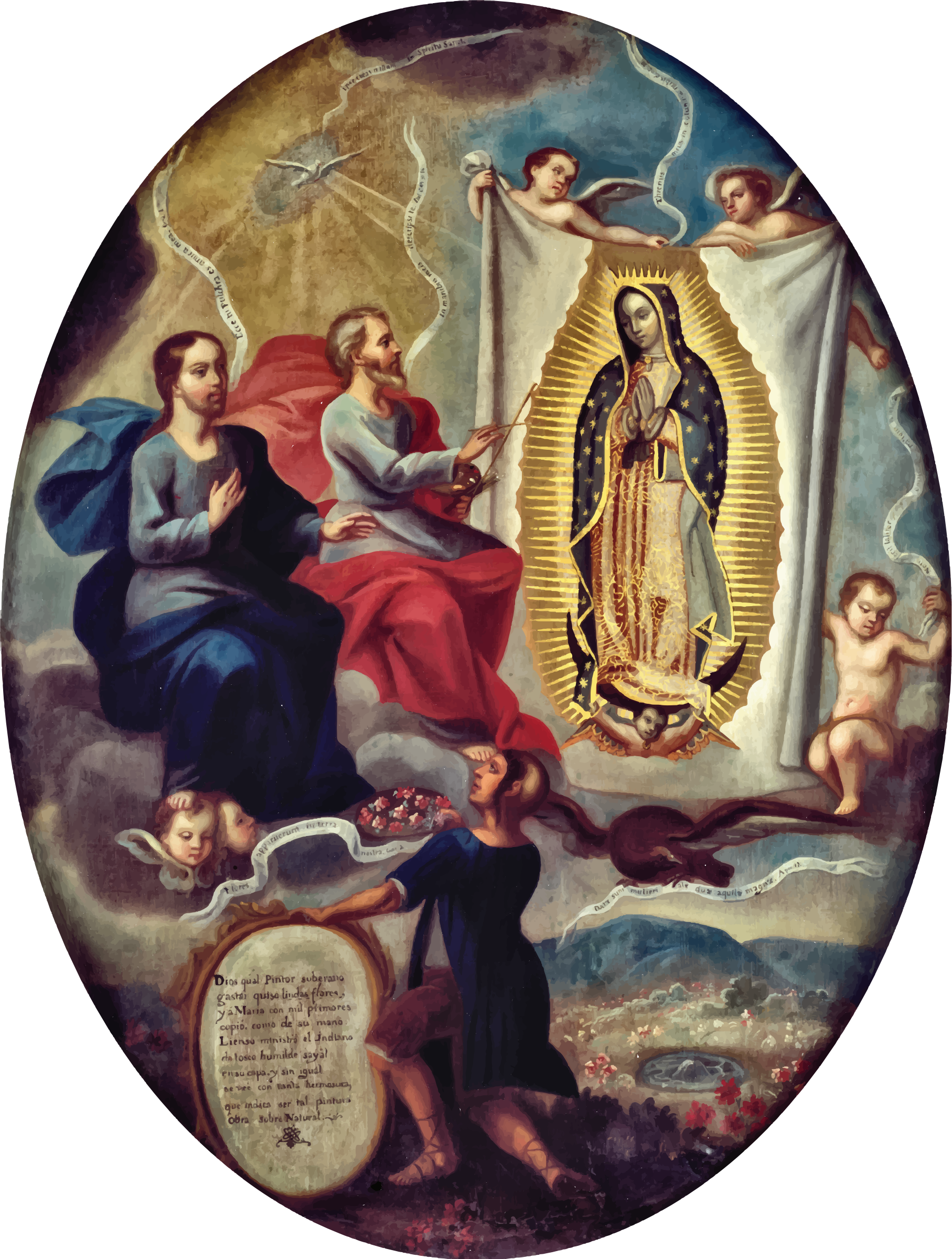 The Eternal Father Painting the Virgin of Guadalupe by GDJ