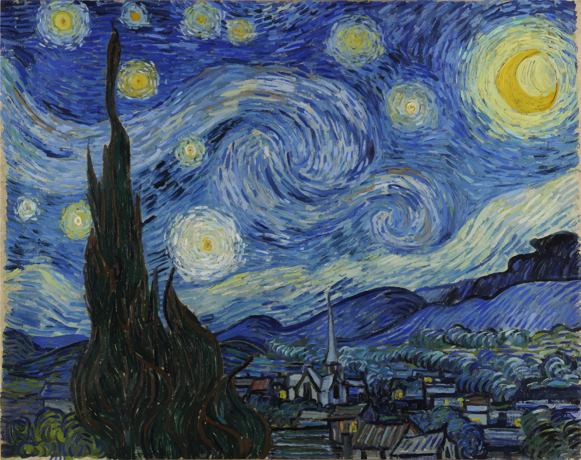 Van Gogh Starry Night by GDJ