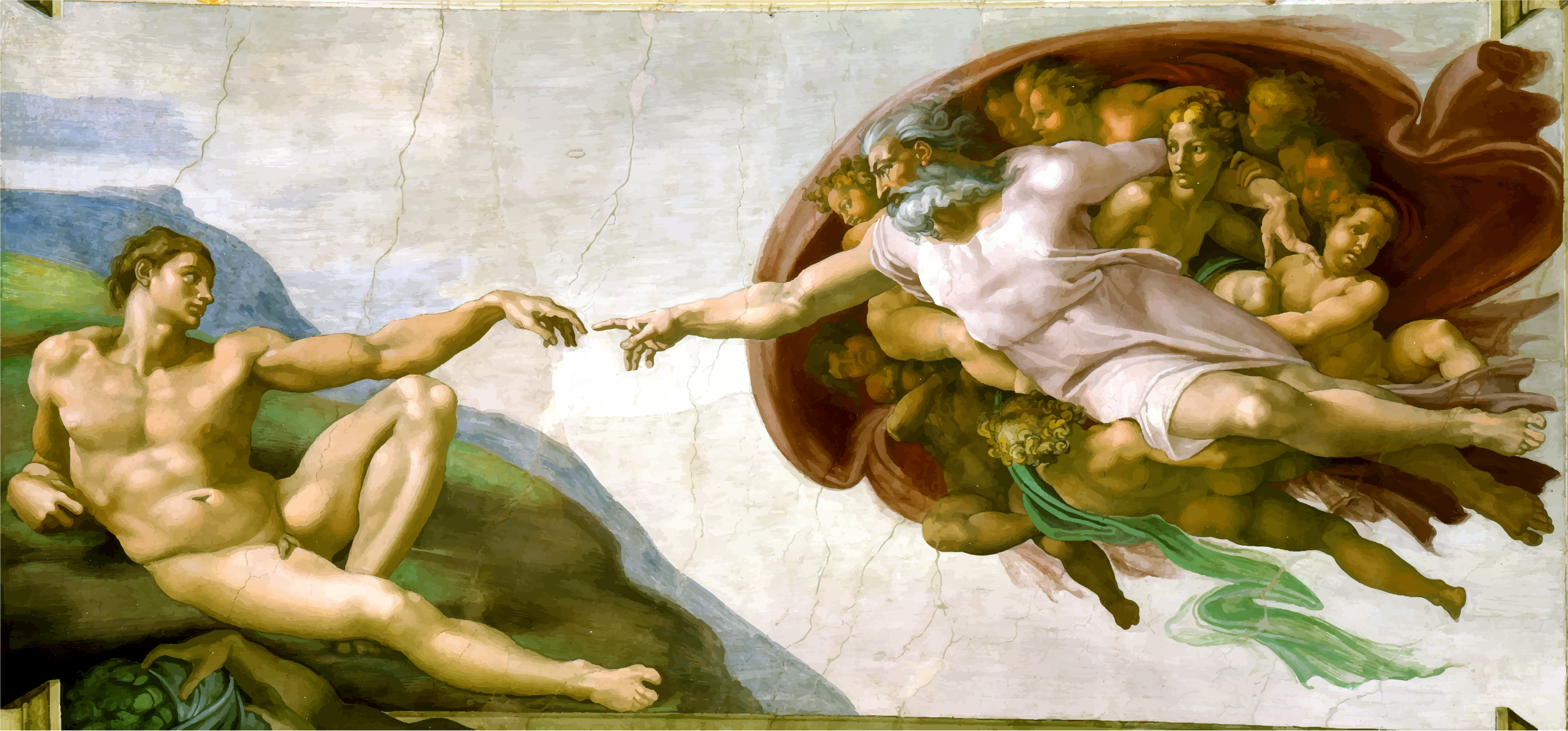 Creation Of Adam By Michaelangelo by GDJ