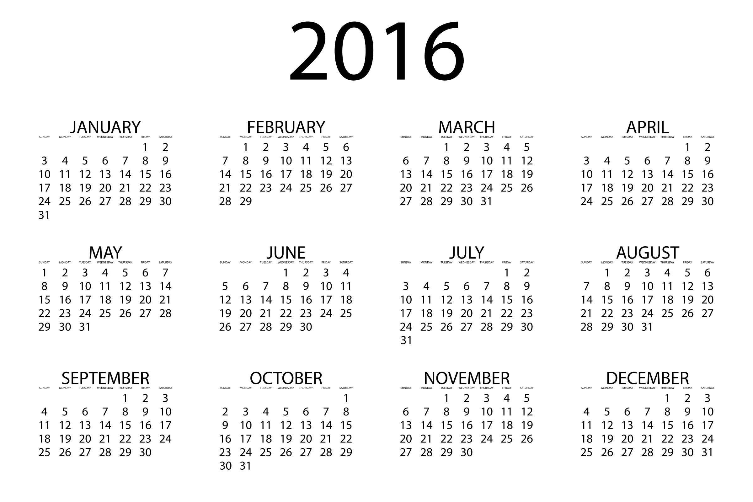 2016 Calendar by GDJ