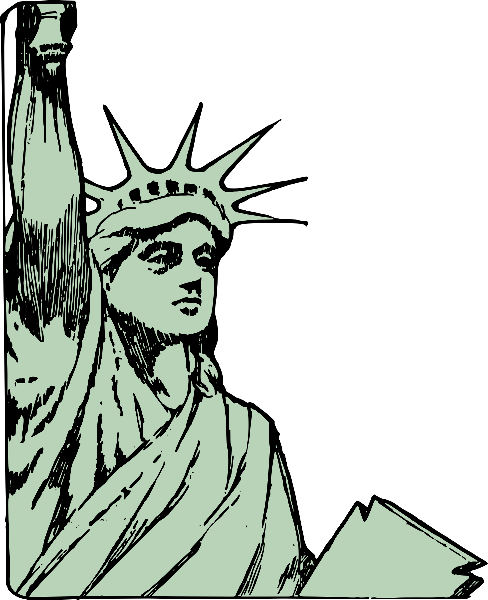 Statue of Liberty - Face by j4p4n