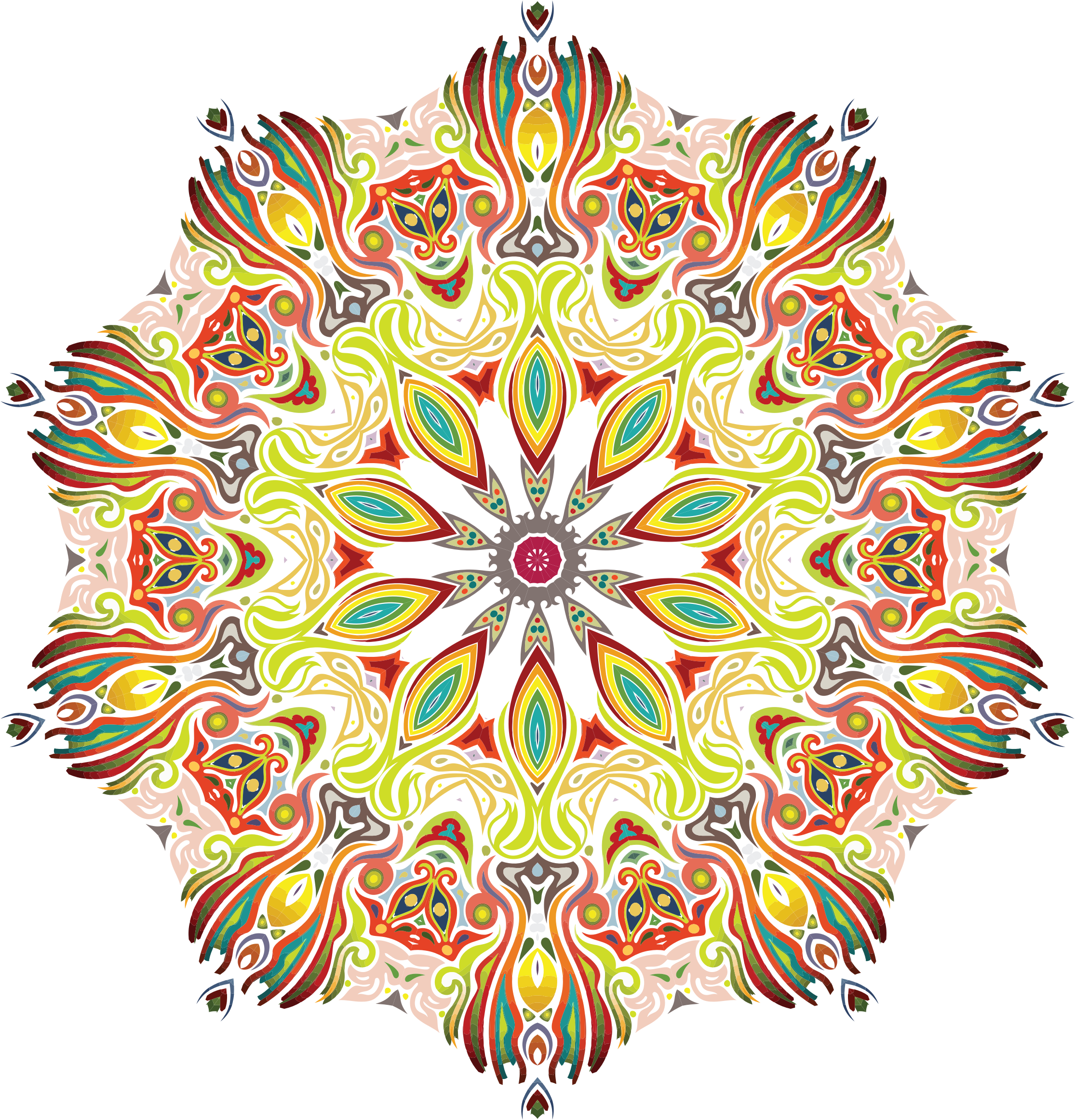 Intricate Colorful Pattern 3 by GDJ