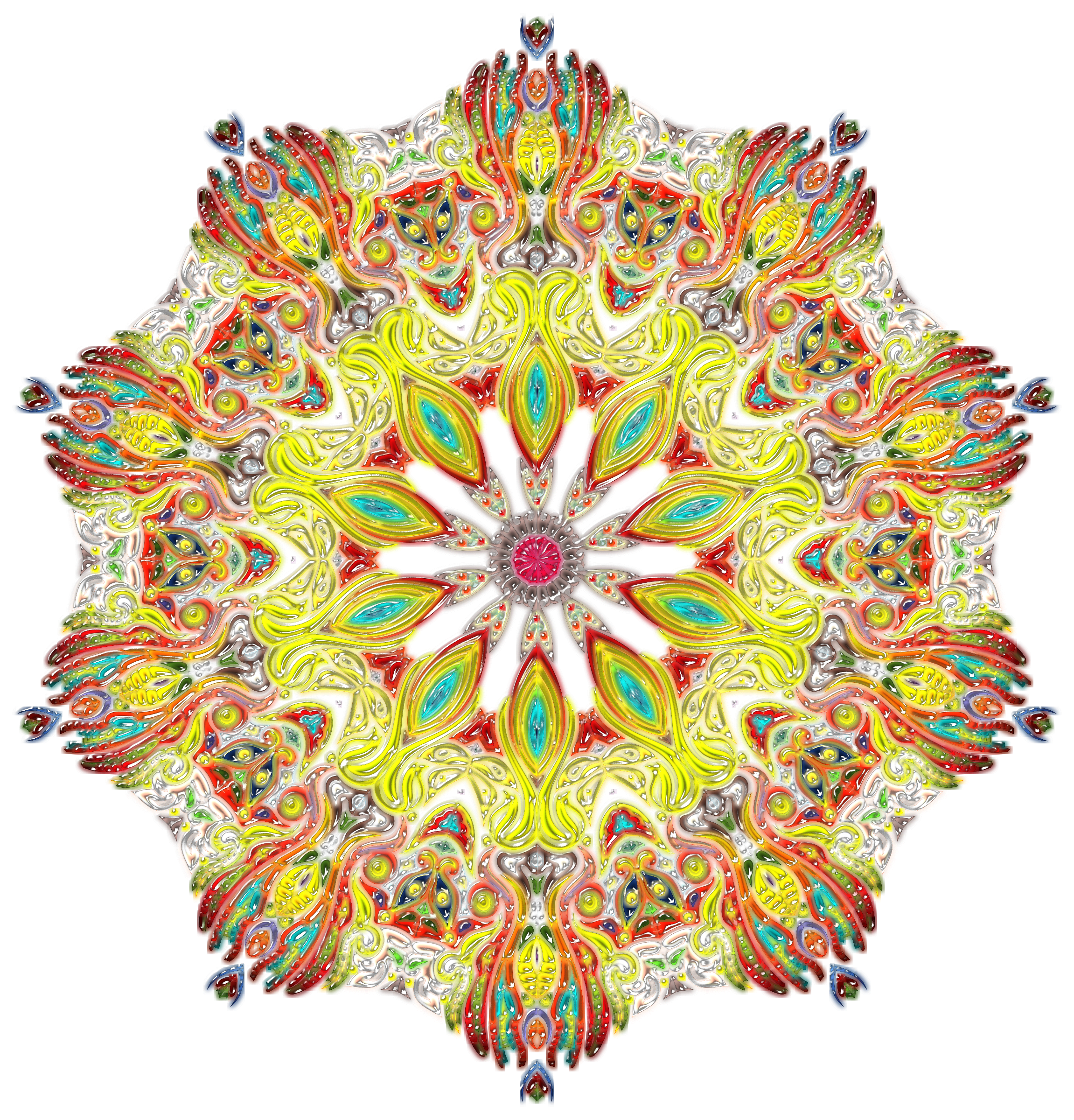 Intricate Colorful Pattern 3 Variation 2 by GDJ