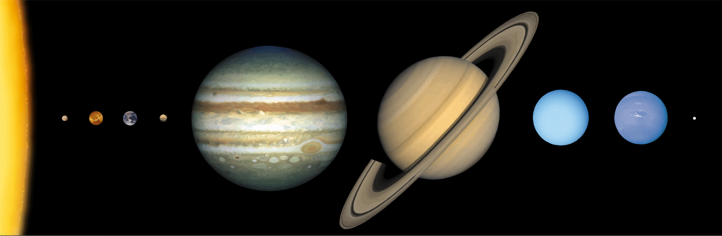 Clipart - Solar System Scale