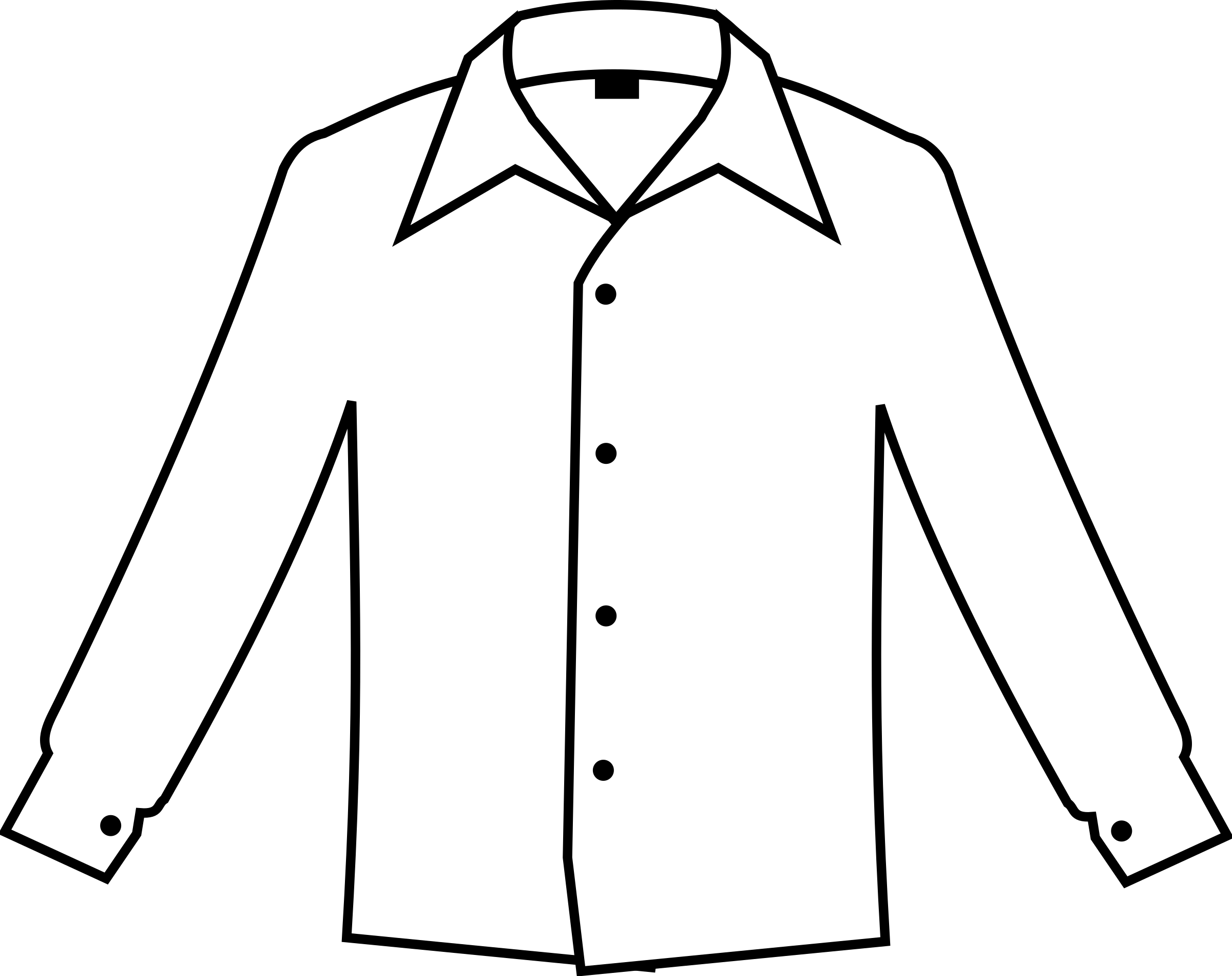 Clipart - Simple white shirt