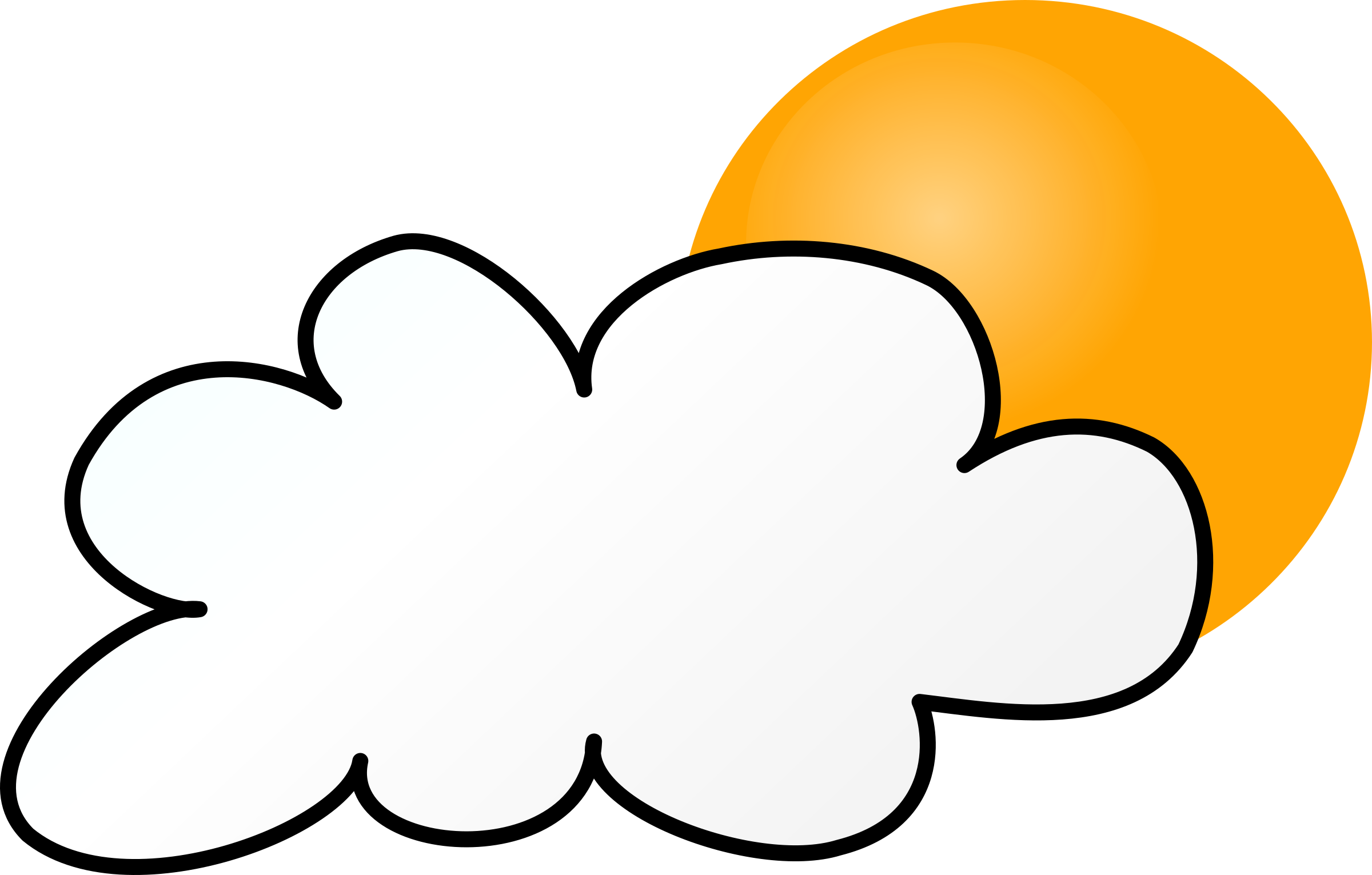 Weather Symbols: Cloudy Day simple by nicubunu