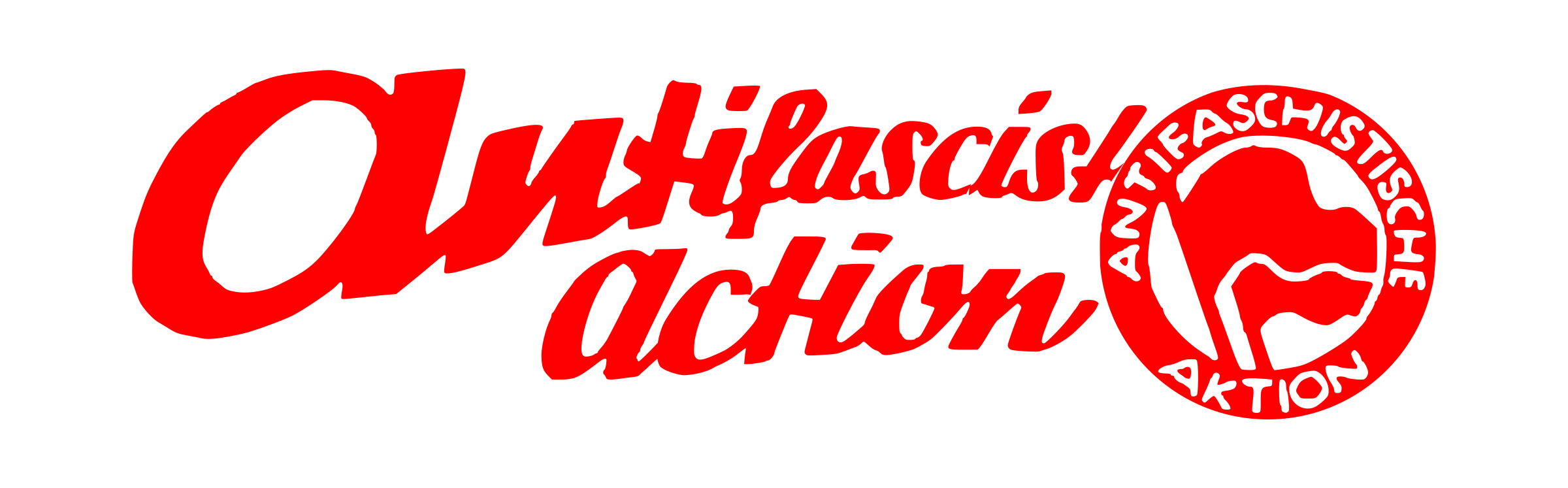 antifascist action lettering by worker