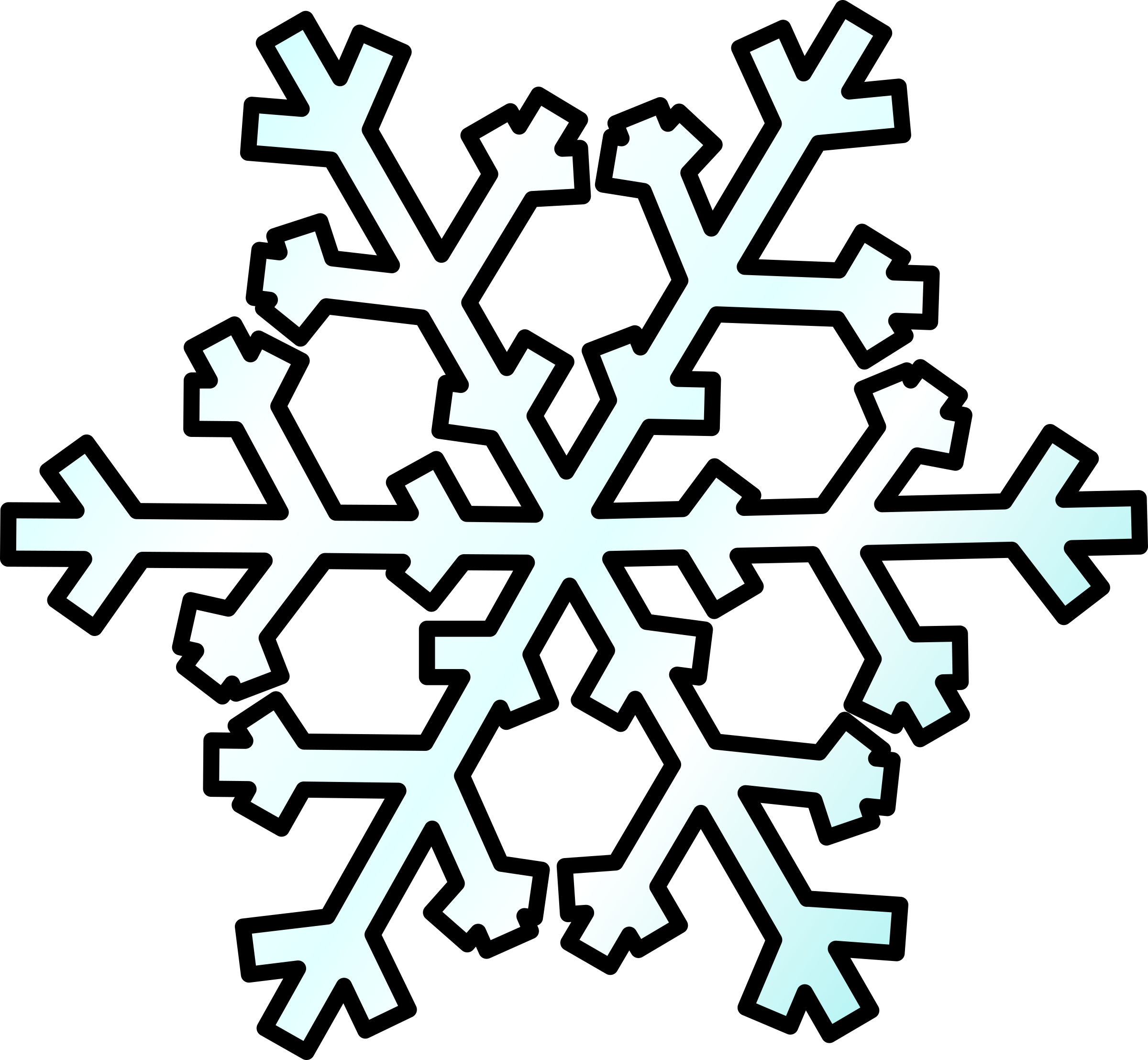 Weather Symbols: Snow by nicubunu