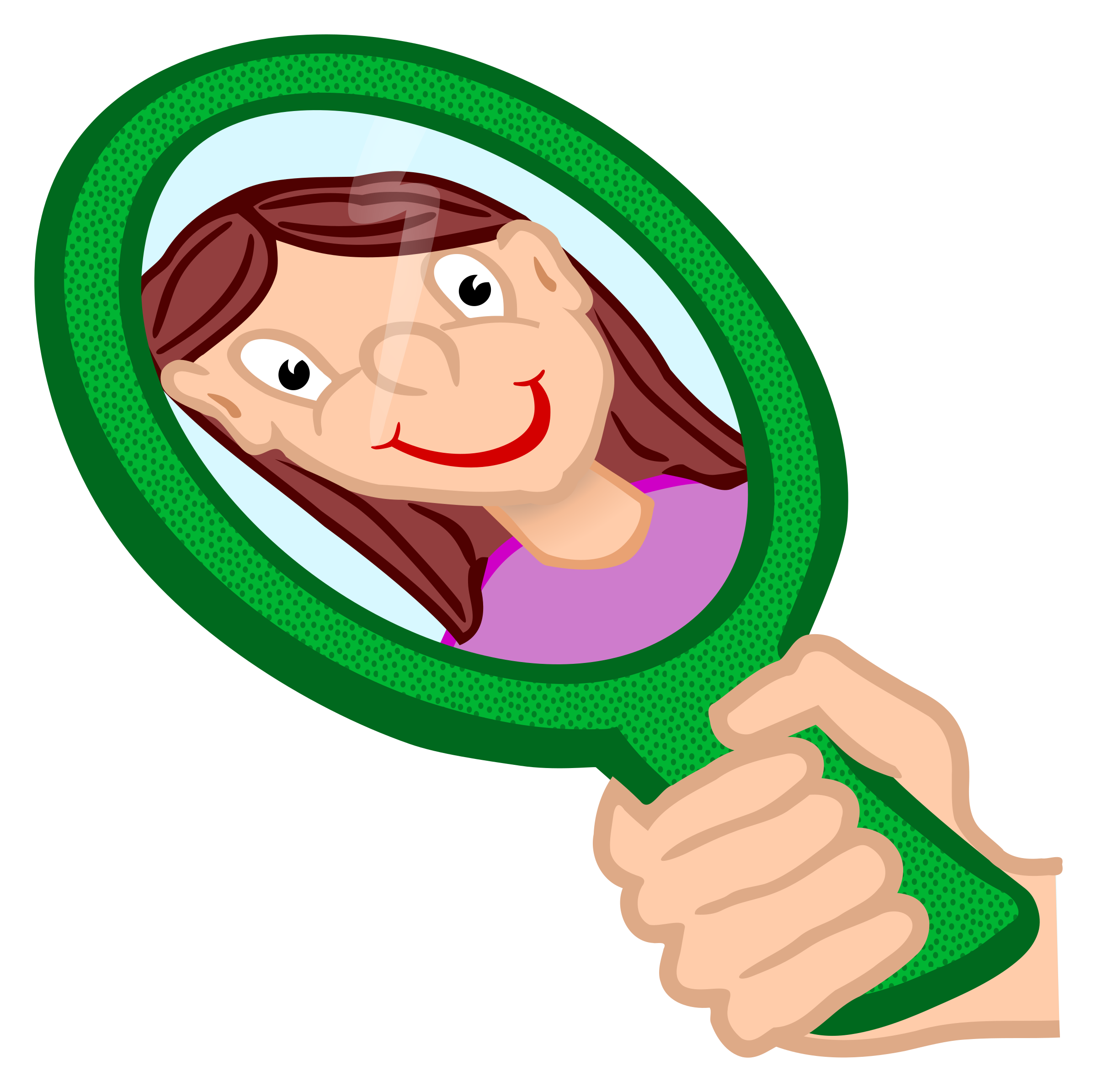 mirror clipart. mirror - coloured clipart