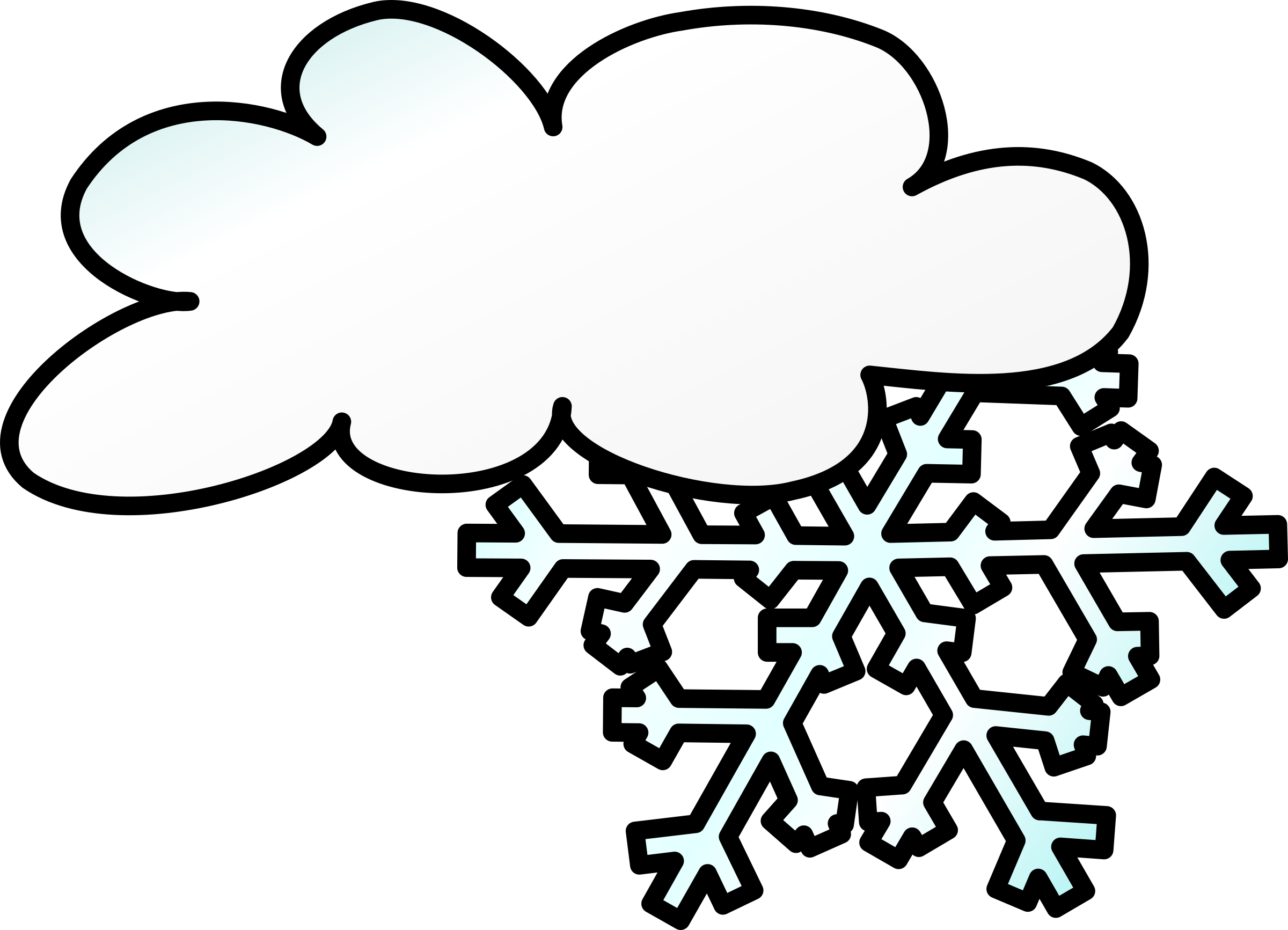 Clipart Weather Symbols Snow Storm