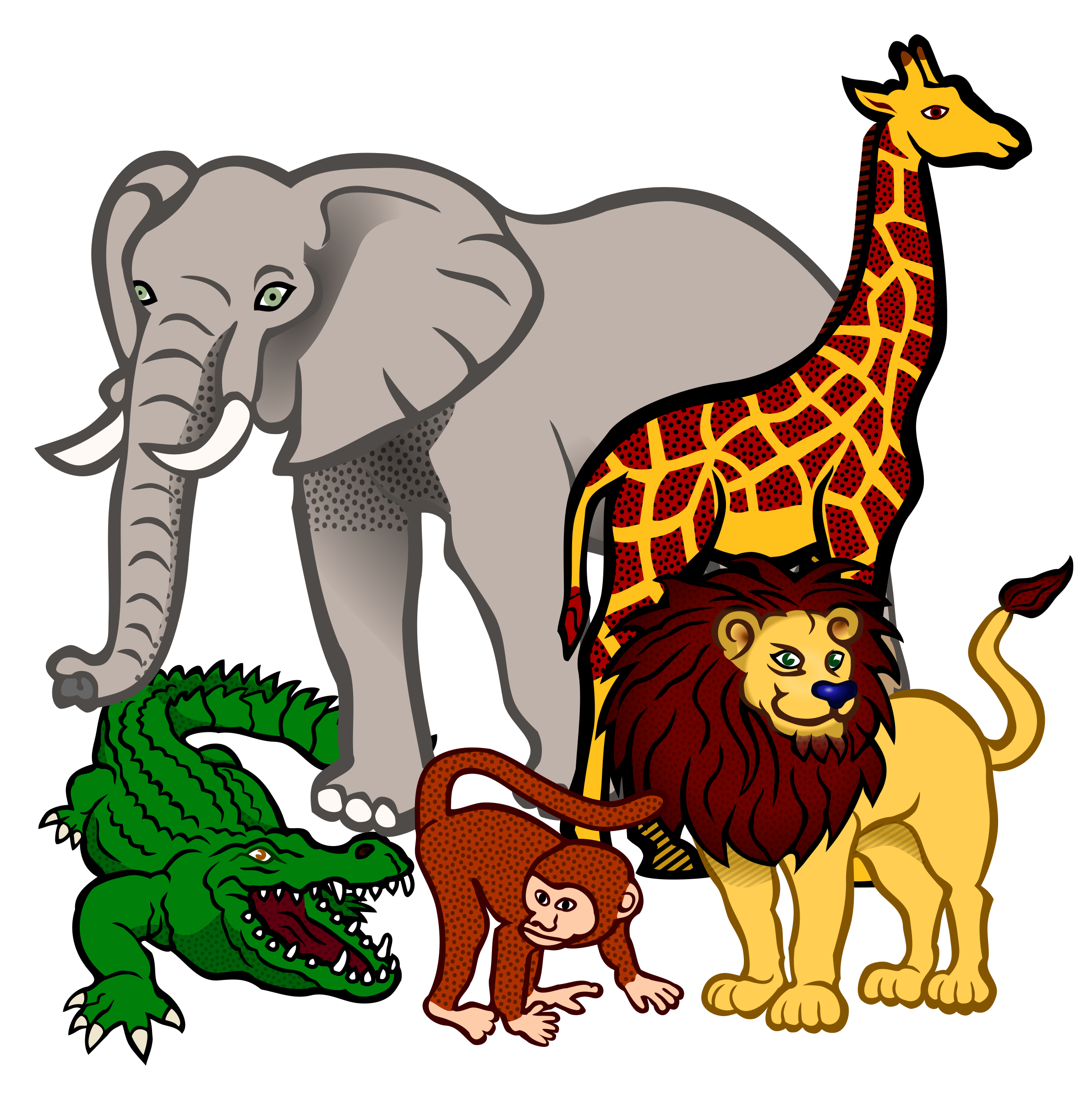 african animals - coloured by frankes