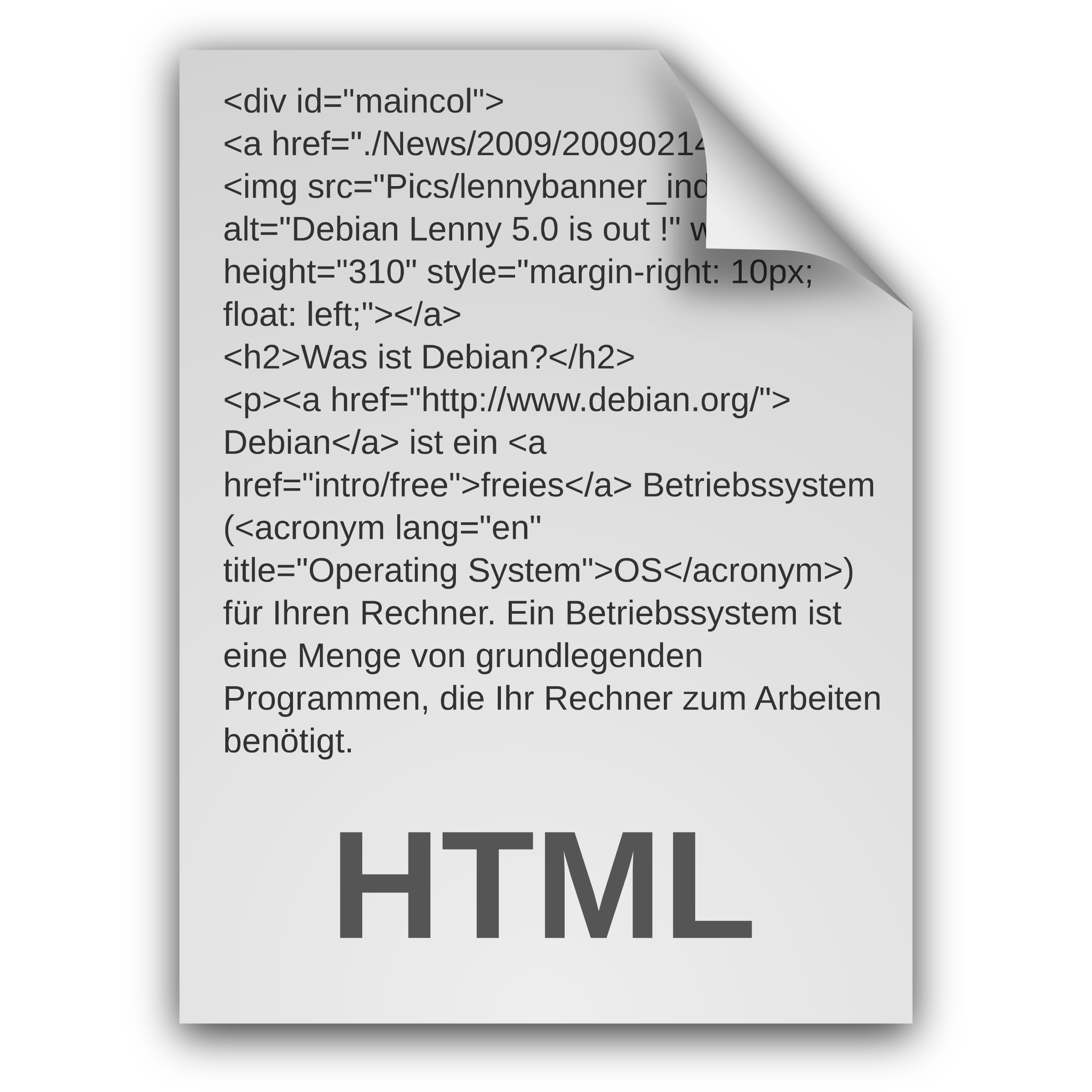 HTML Document Icon Outlines by rejon
