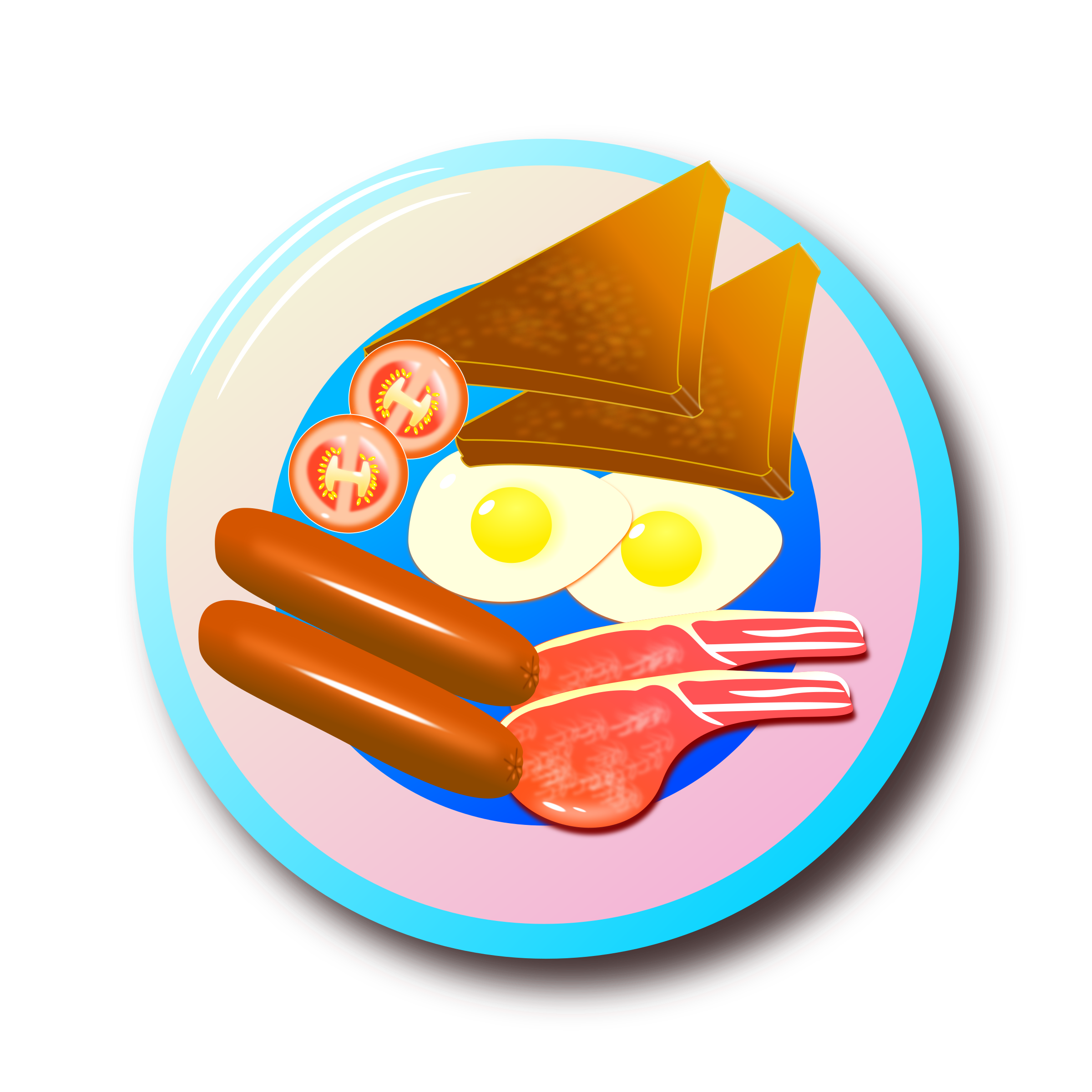 Clipart - Full English Breakfast