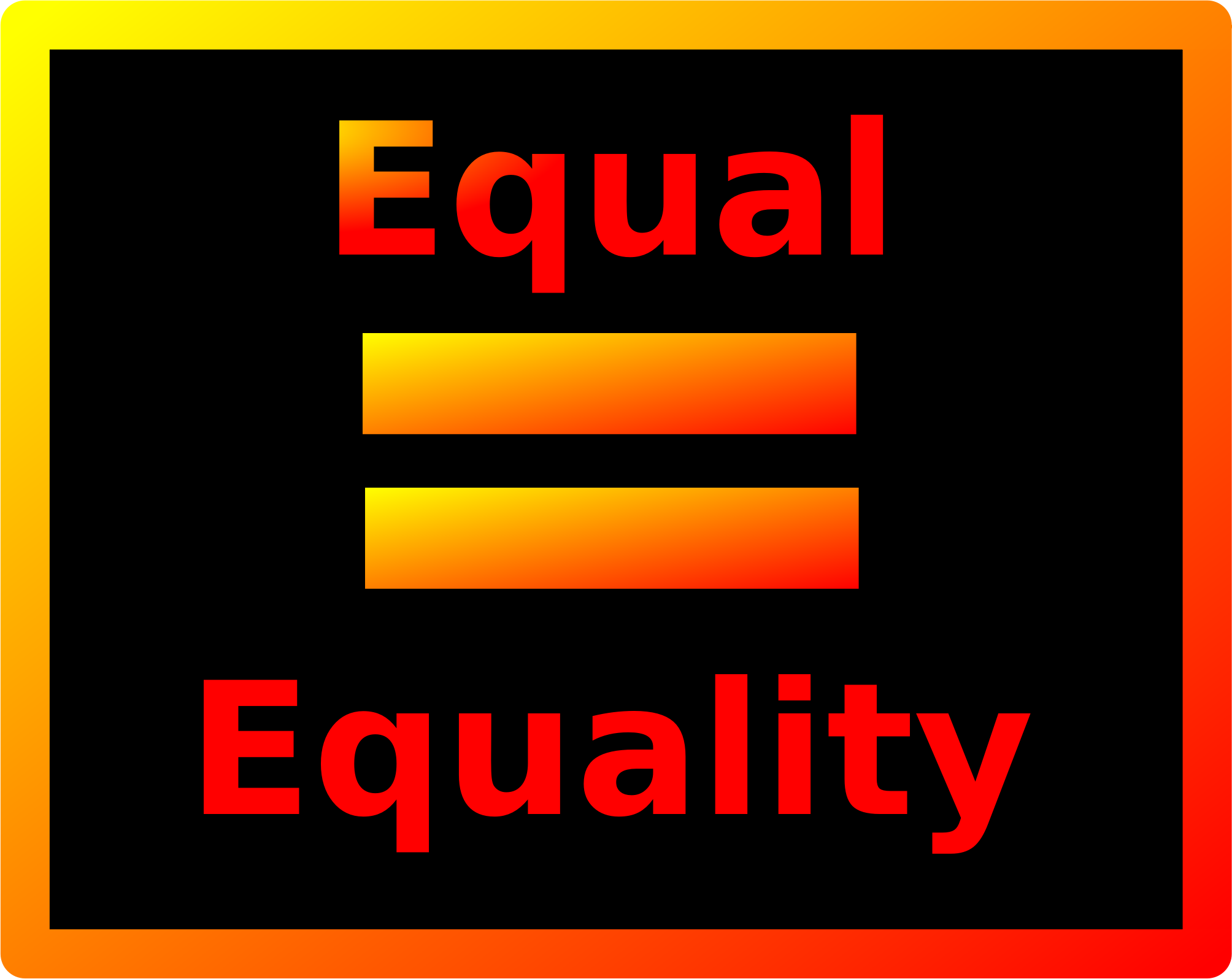 Equal = Equality by zerozip