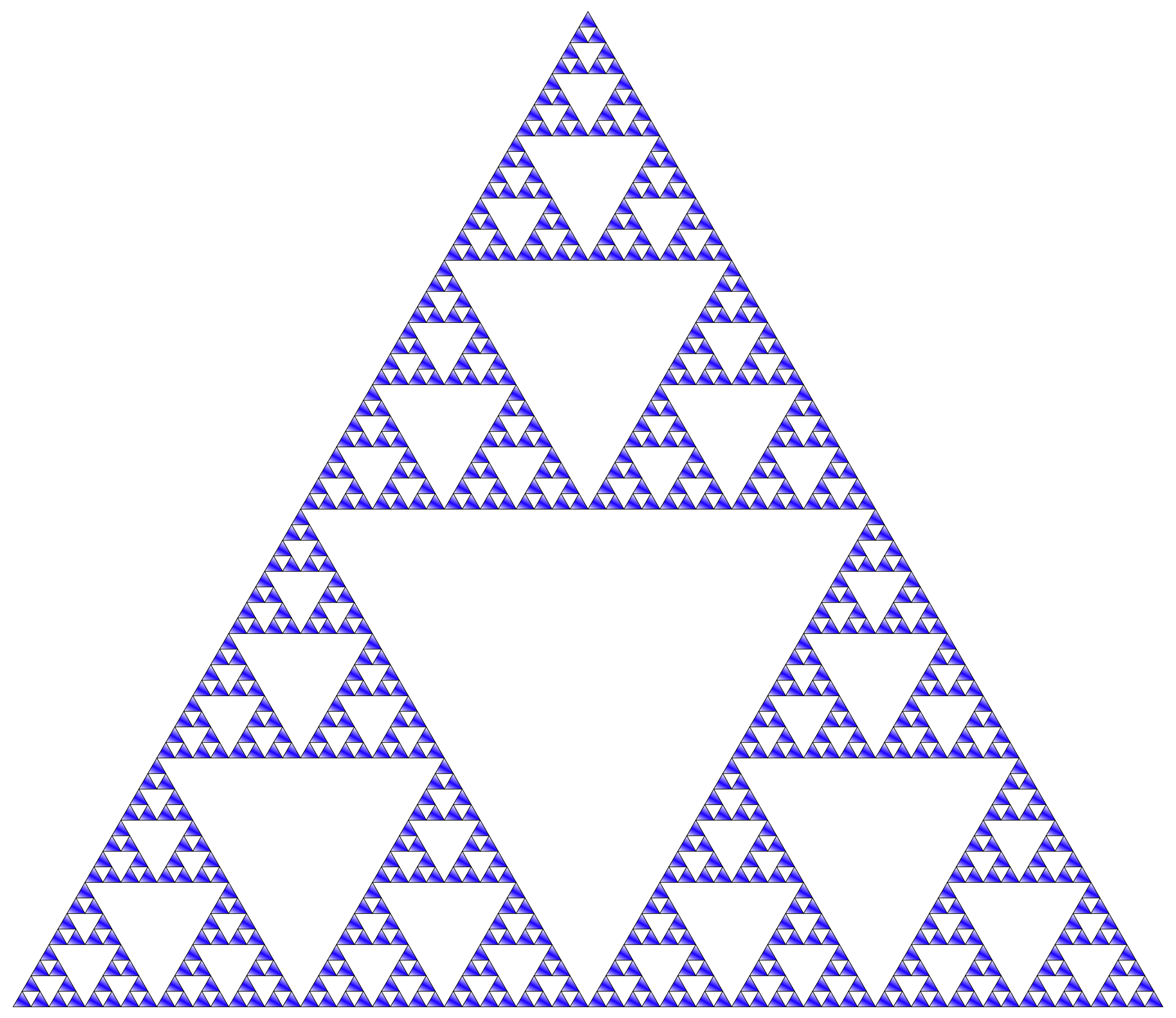 Sierpinski Triangle Colored by GDJ