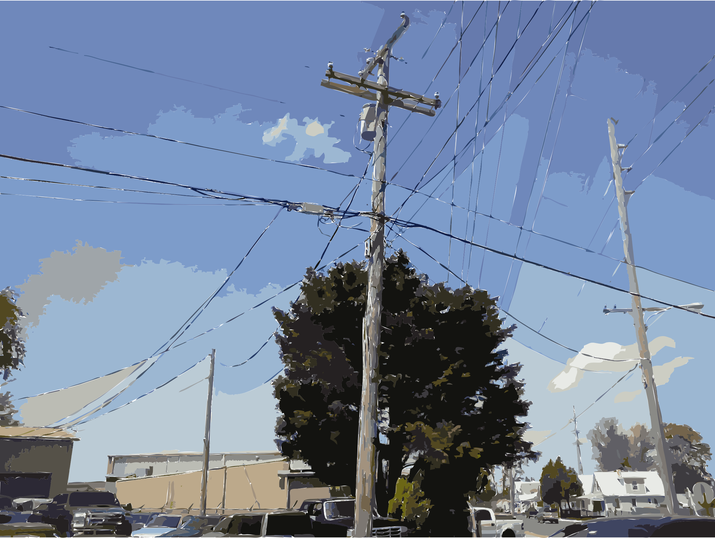 Utility Pole Vectorized by EdR