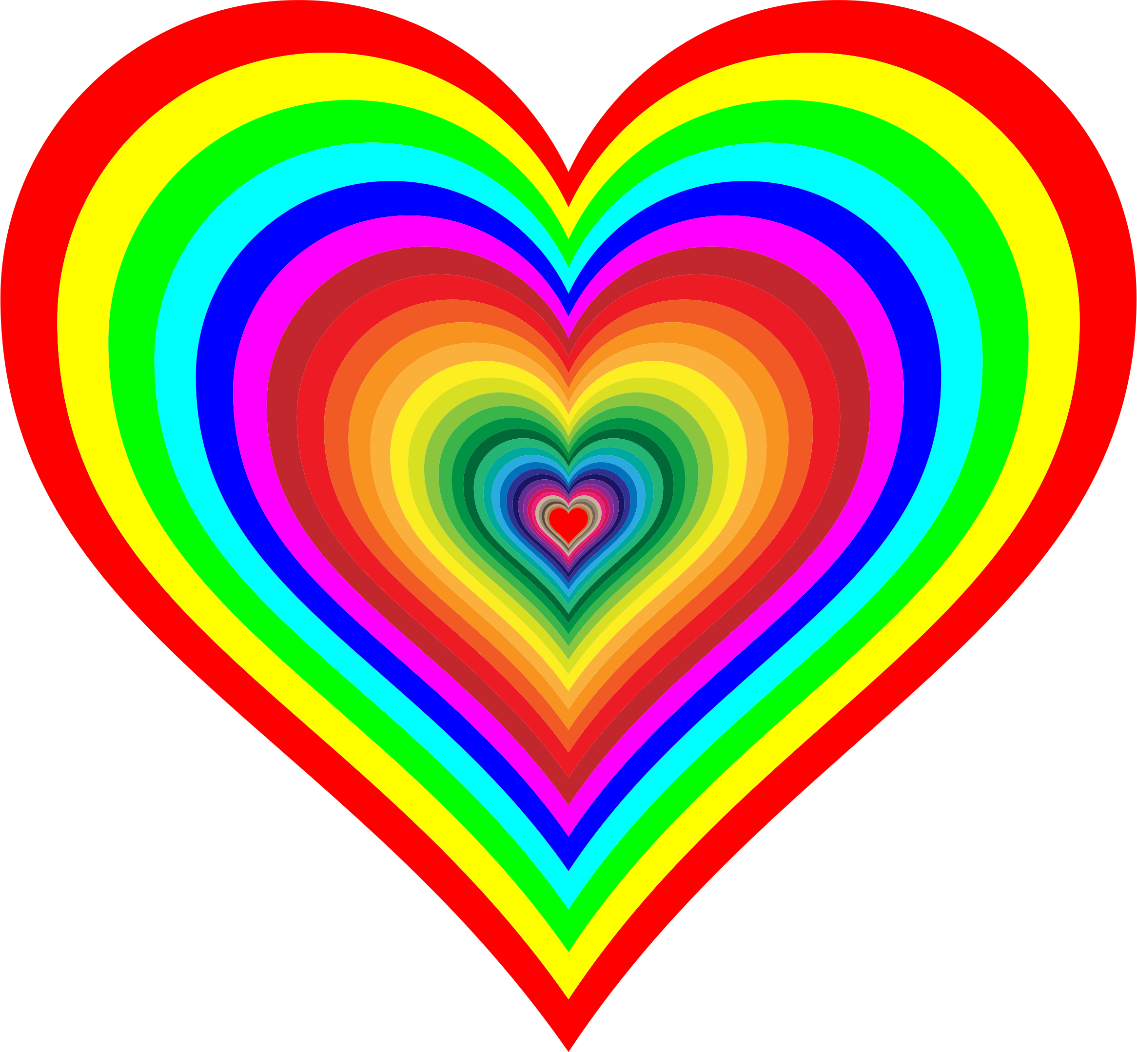 Rainbowrific Heart by GDJ