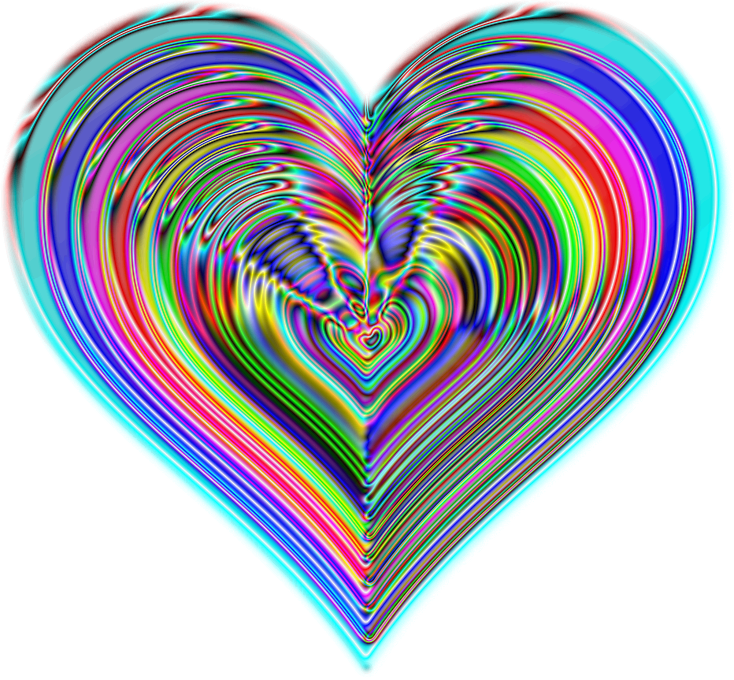 Rainbowrific Heart Enhanced 2 by GDJ