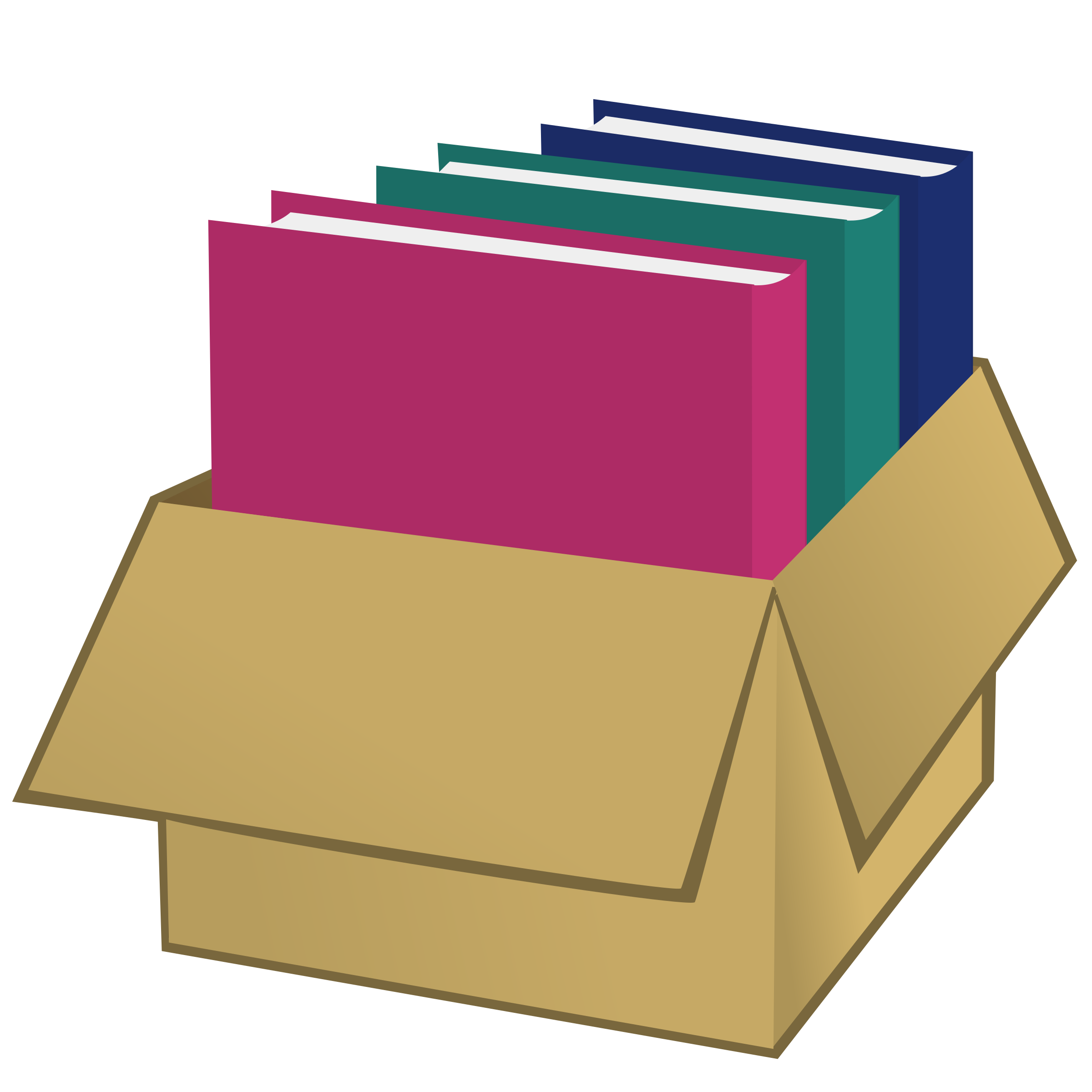 Box with folders by nicubunu