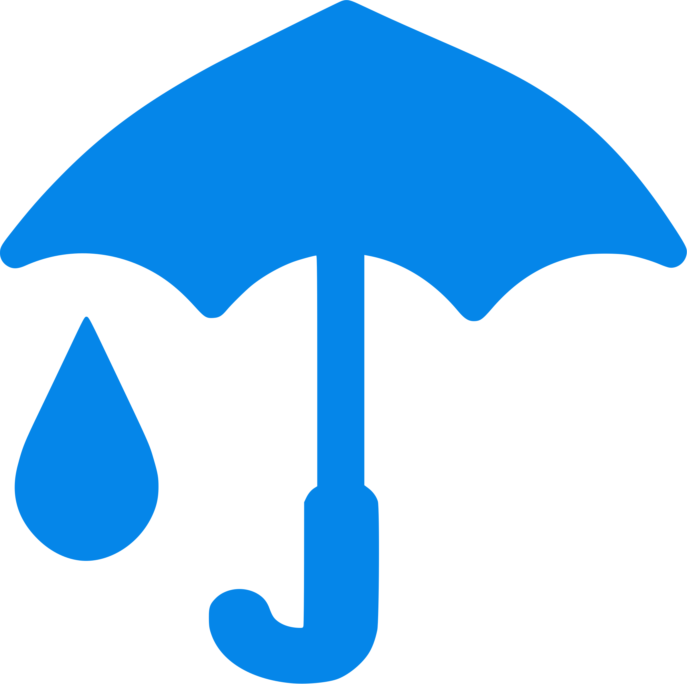 Blue Umbrella And Raindrop icon by phidari
