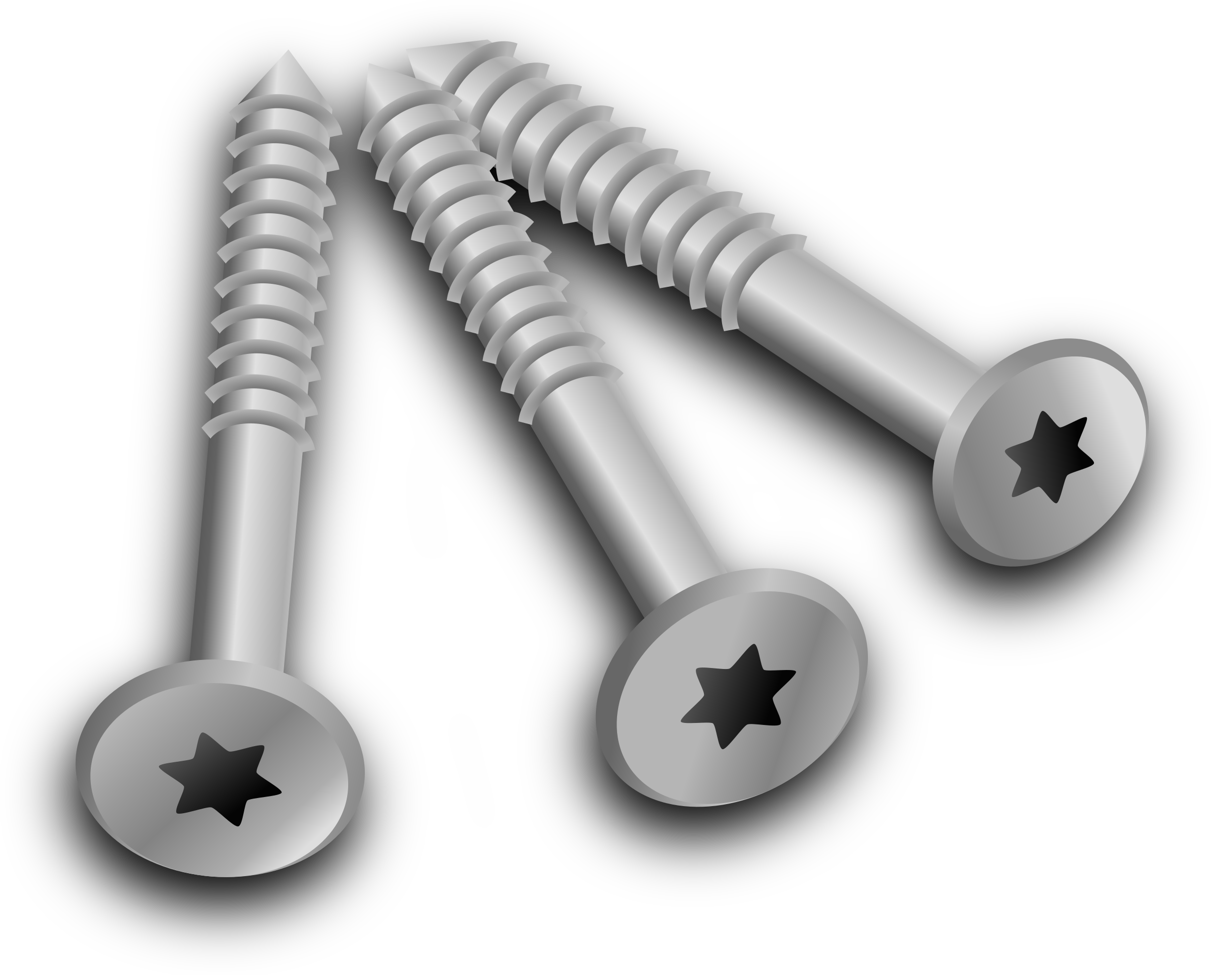Clipart - 3 screws