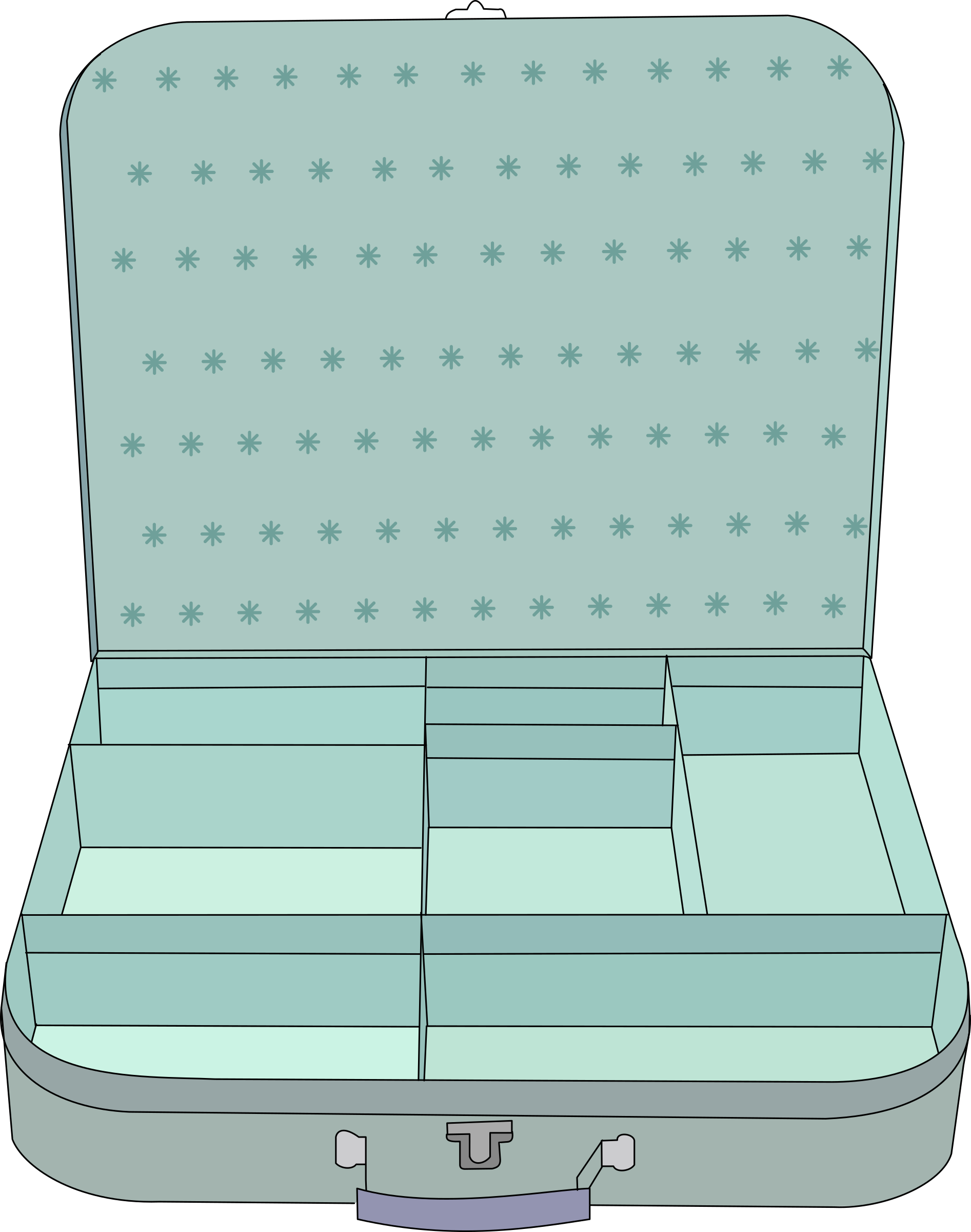 suitcase with compartment by tom