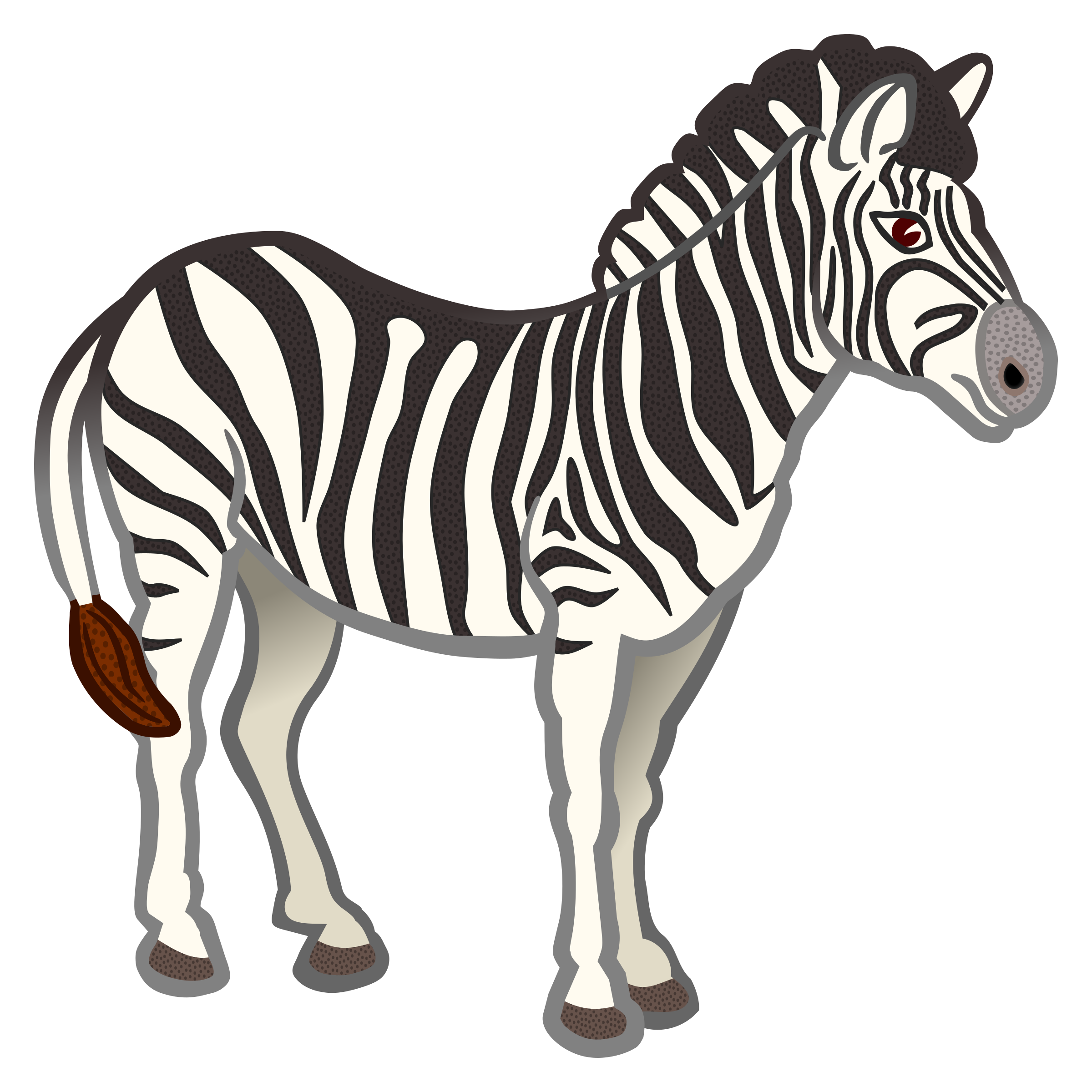 zebra - coloured by frankes
