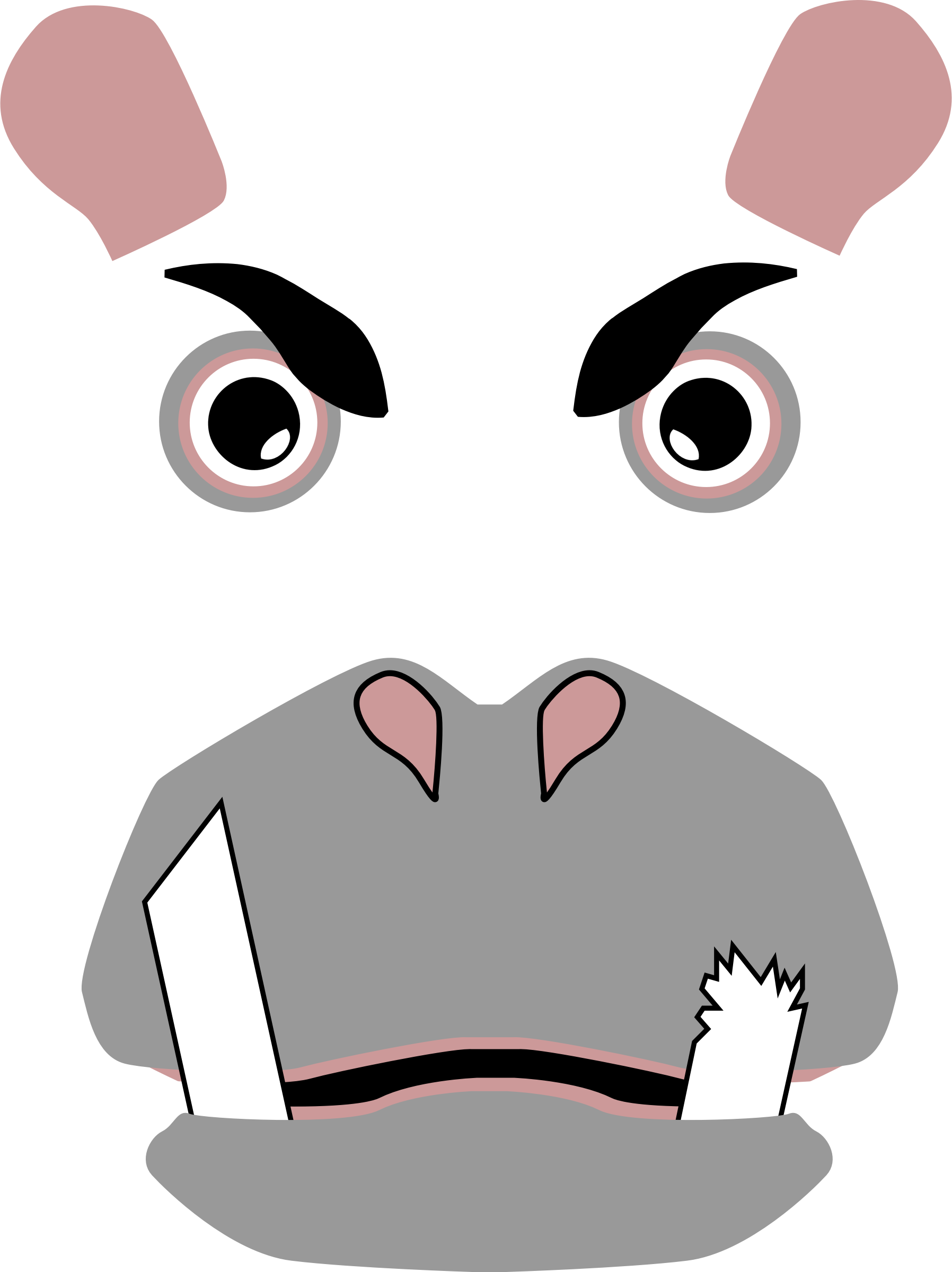Angry Hippo (updated) by mikestratton.net