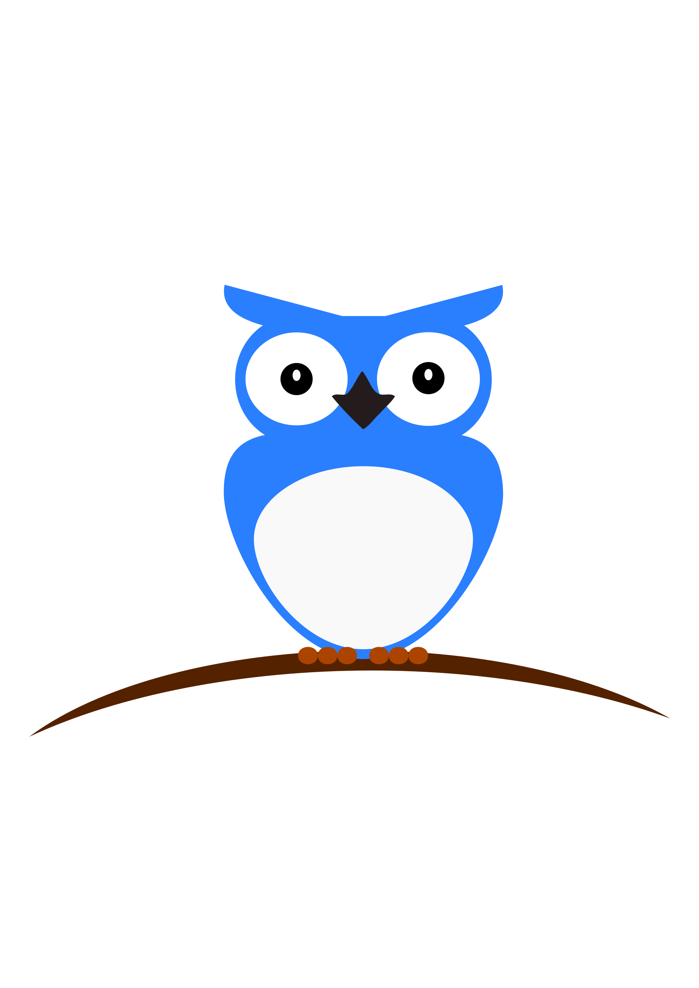 Blue & White Owl by Avasz
