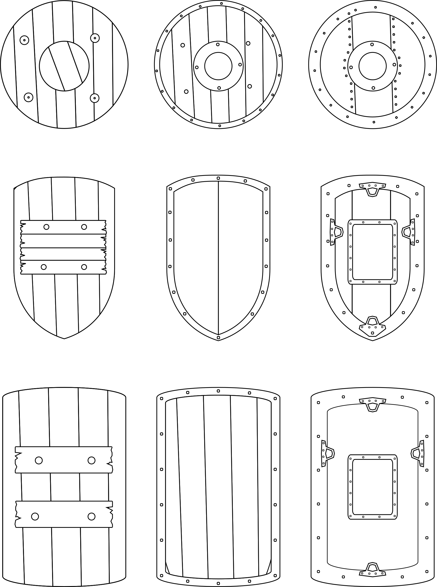 Medieval Shields by cyberscooty