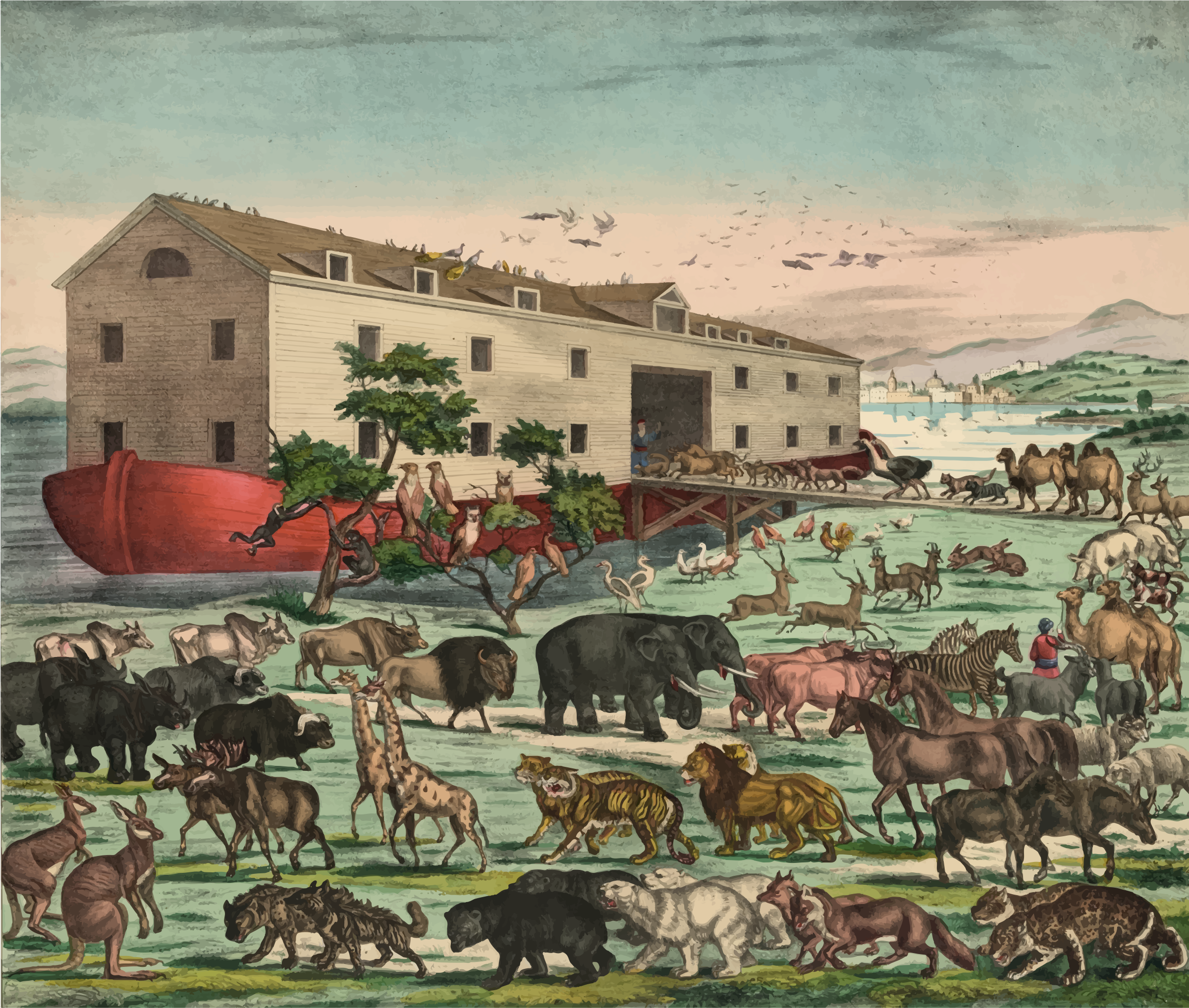 Noah's Ark Illustration by GDJ