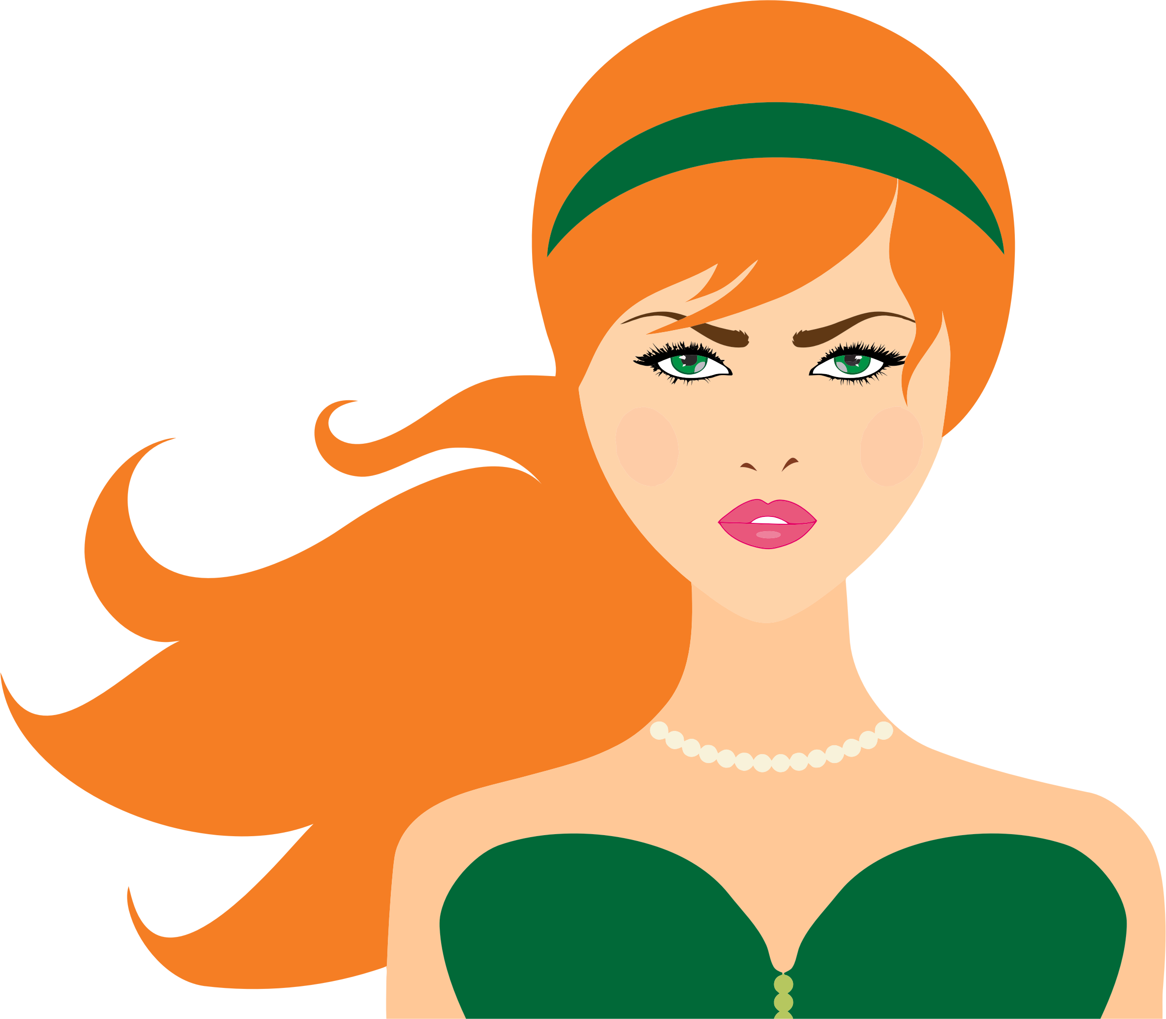 Clipart Red Haired Woman