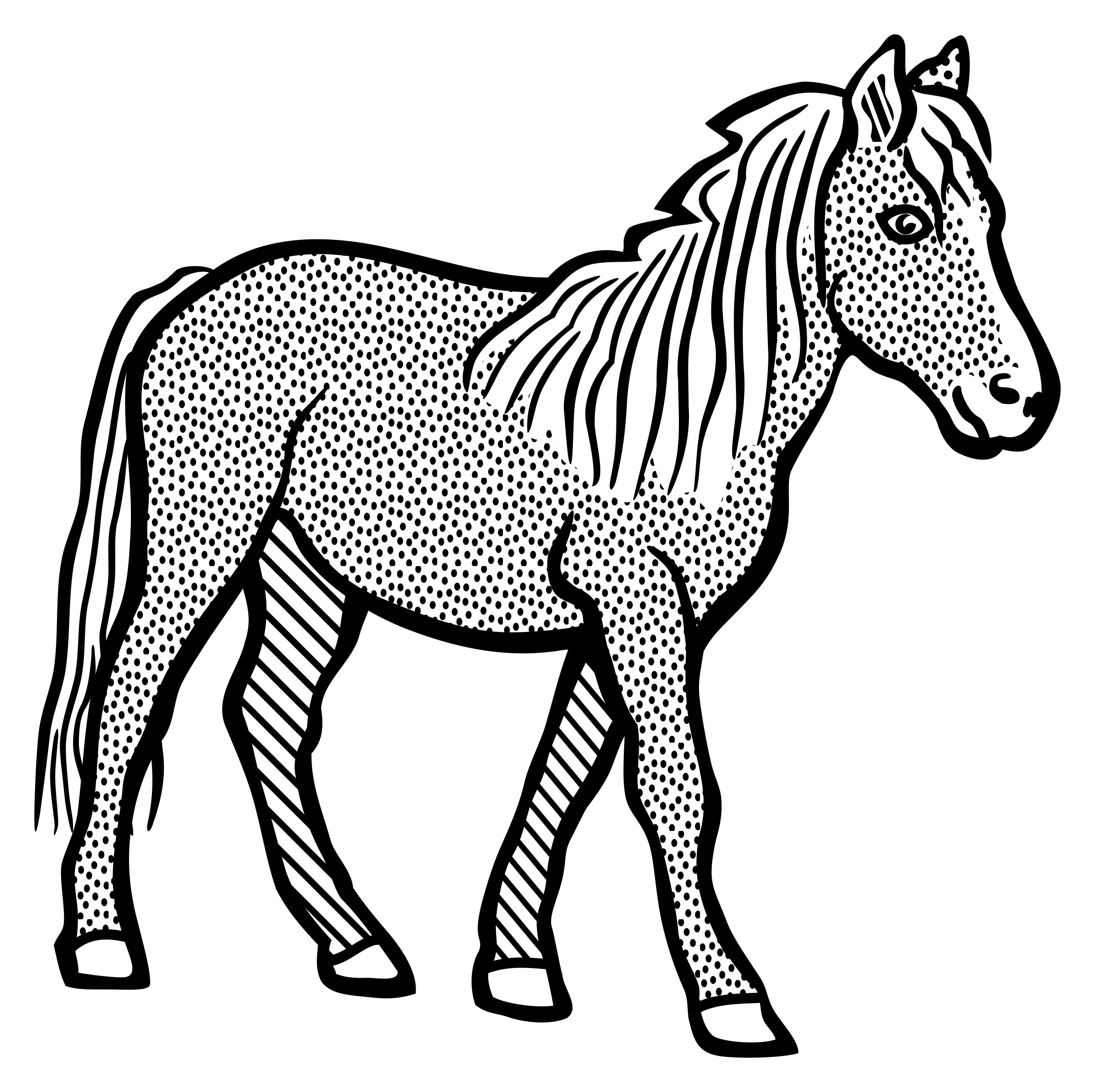horse - lineart by frankes