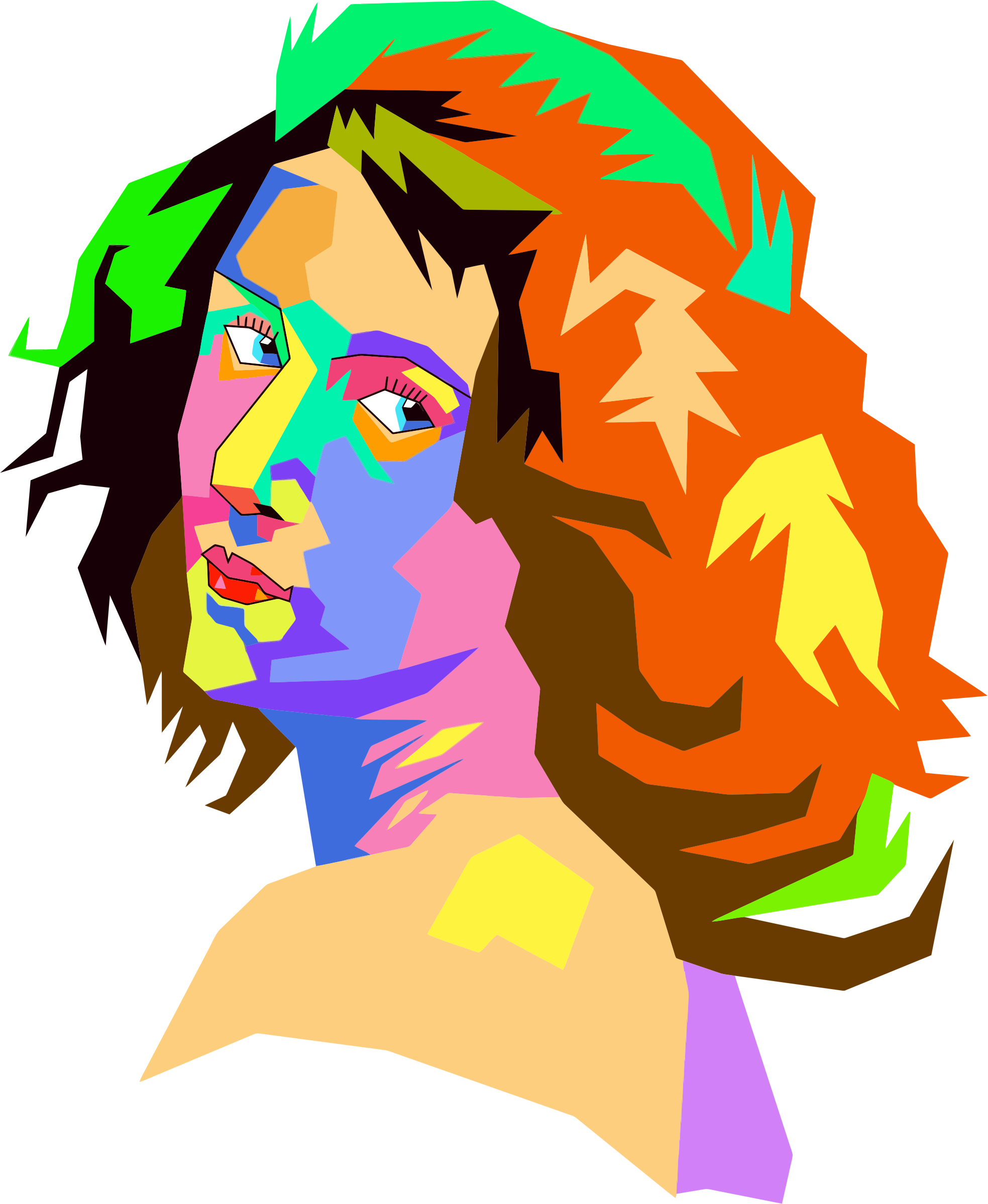 Pop Art Female Face by GDJ