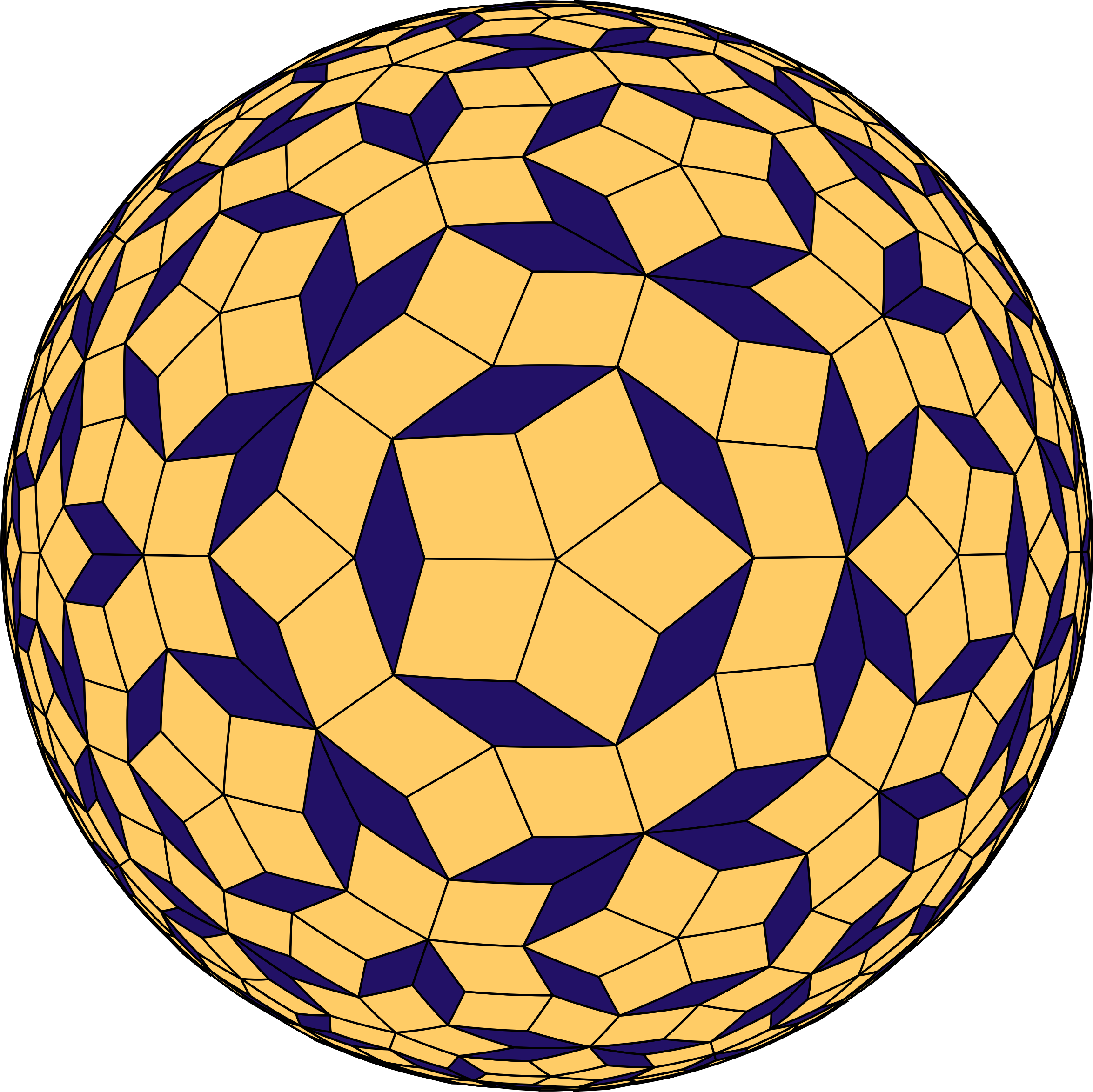 Penrose Tiled Sphere by GDJ